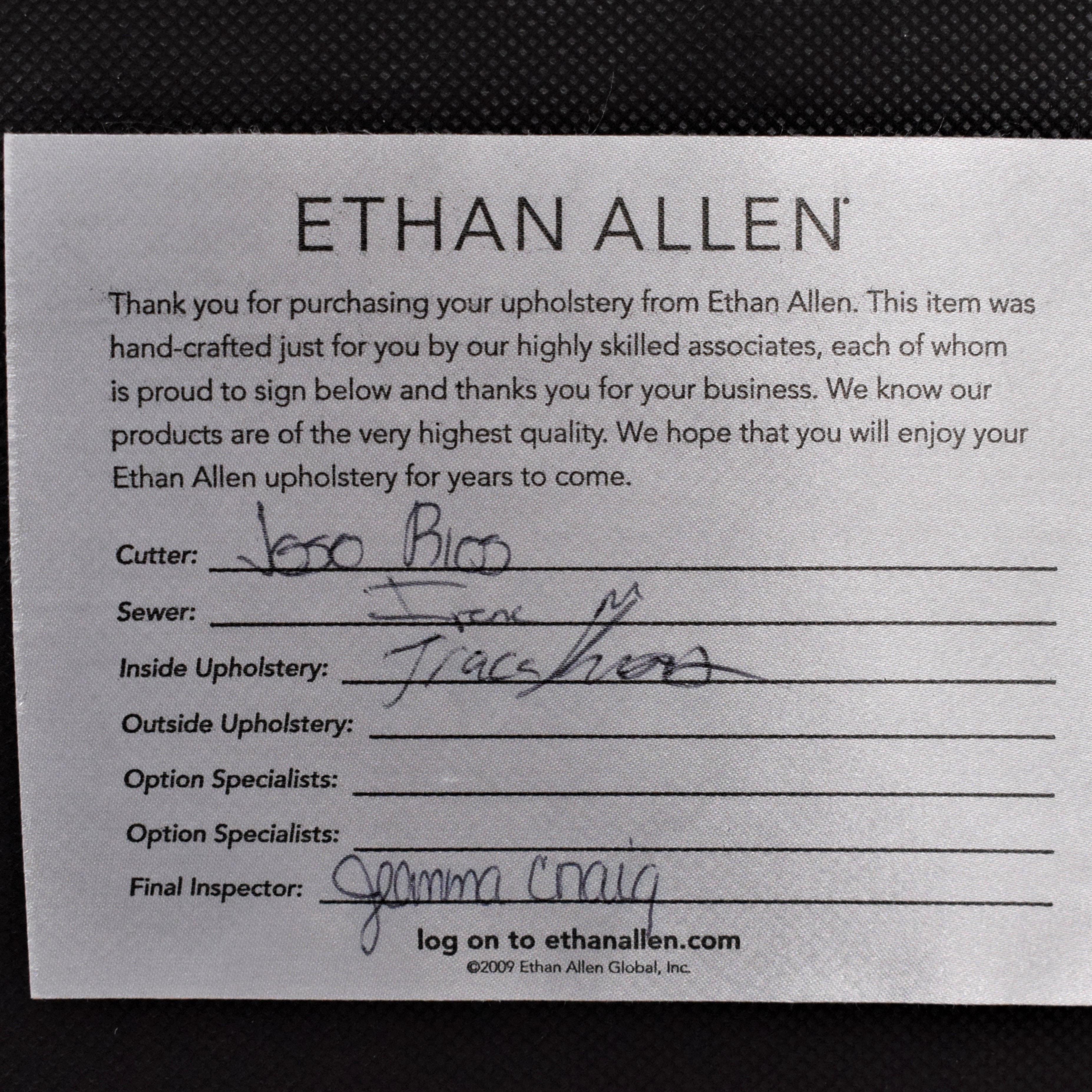 Ethan Allen Ethan Allen Matteo Cocktail Ottoman white and black