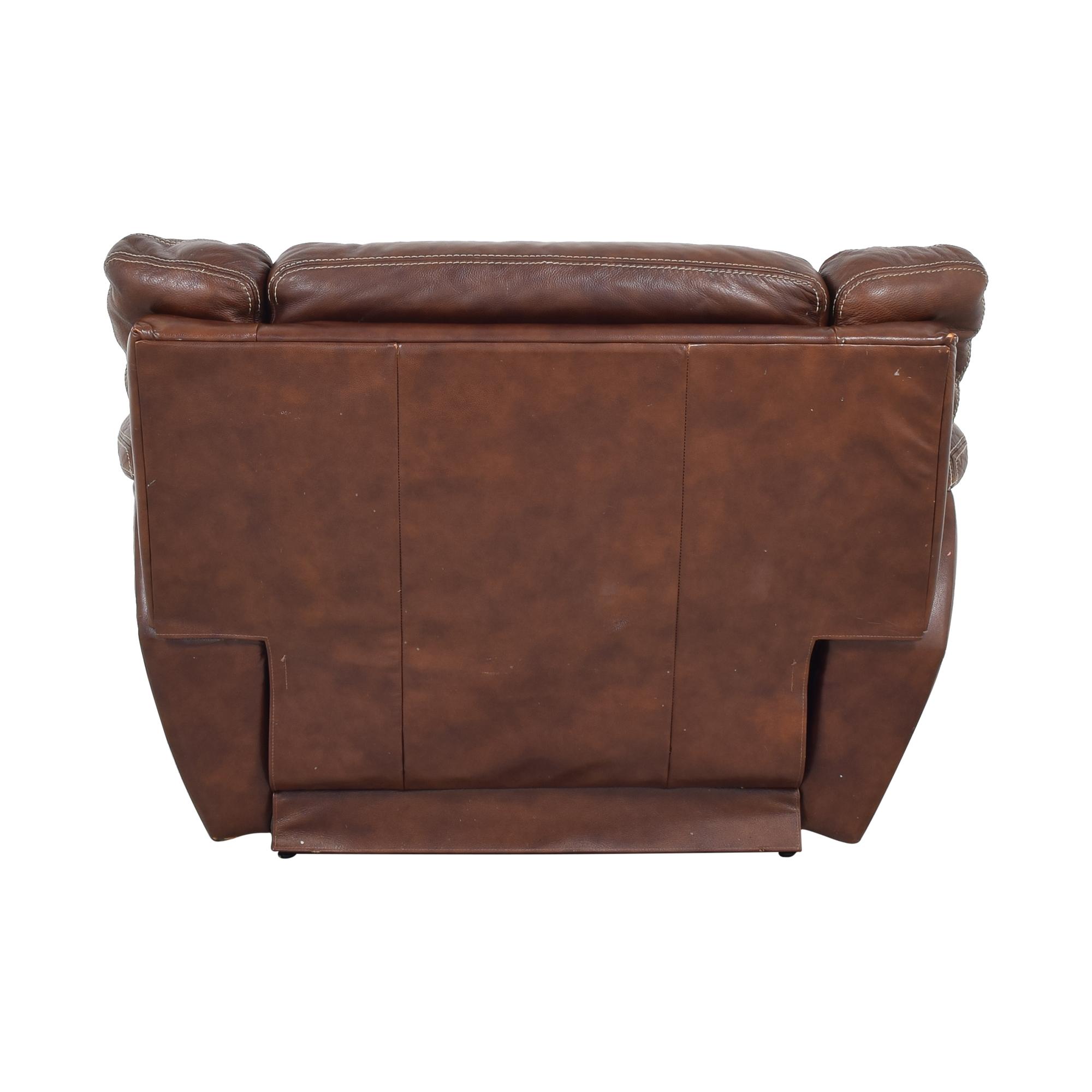 La-Z-Boy La-Z-Boy Leather Recliner Chair dark brown