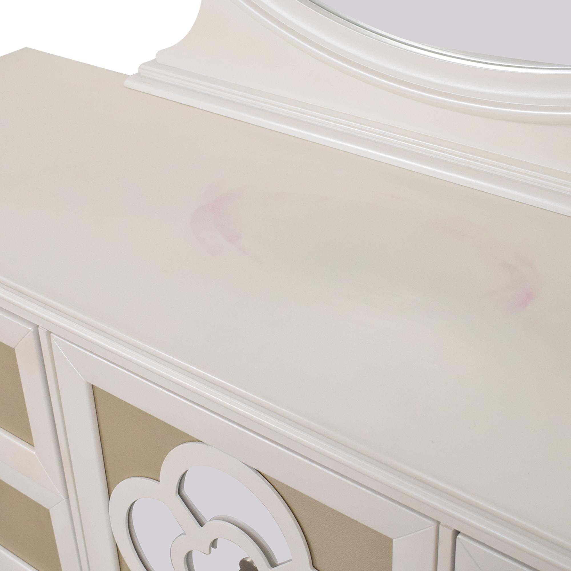 shop Raymour & Flanigan Paris Dresser with Mirror Najarian Furniture Dressers