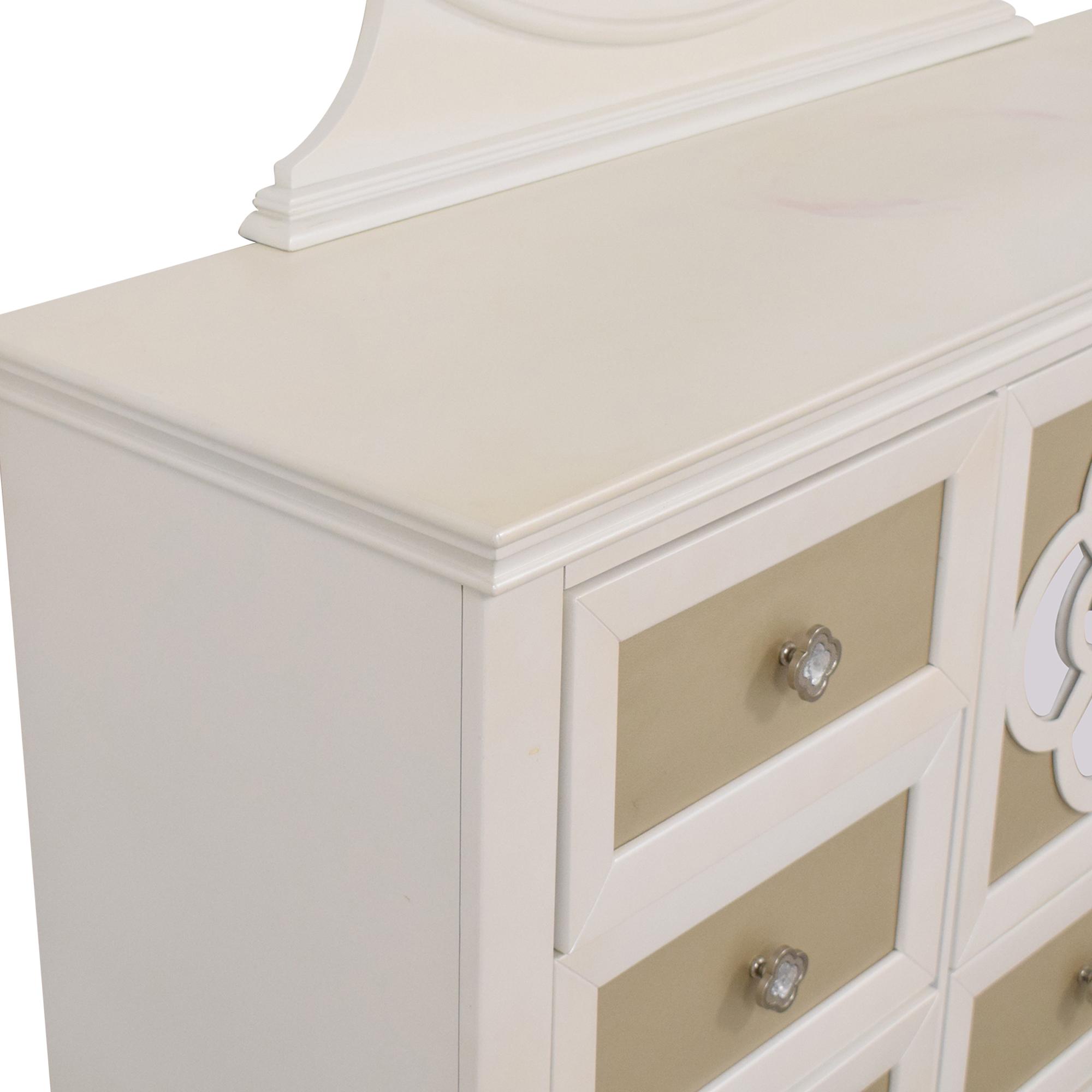 Najarian Furniture Raymour & Flanigan Paris Dresser with Mirror dimensions
