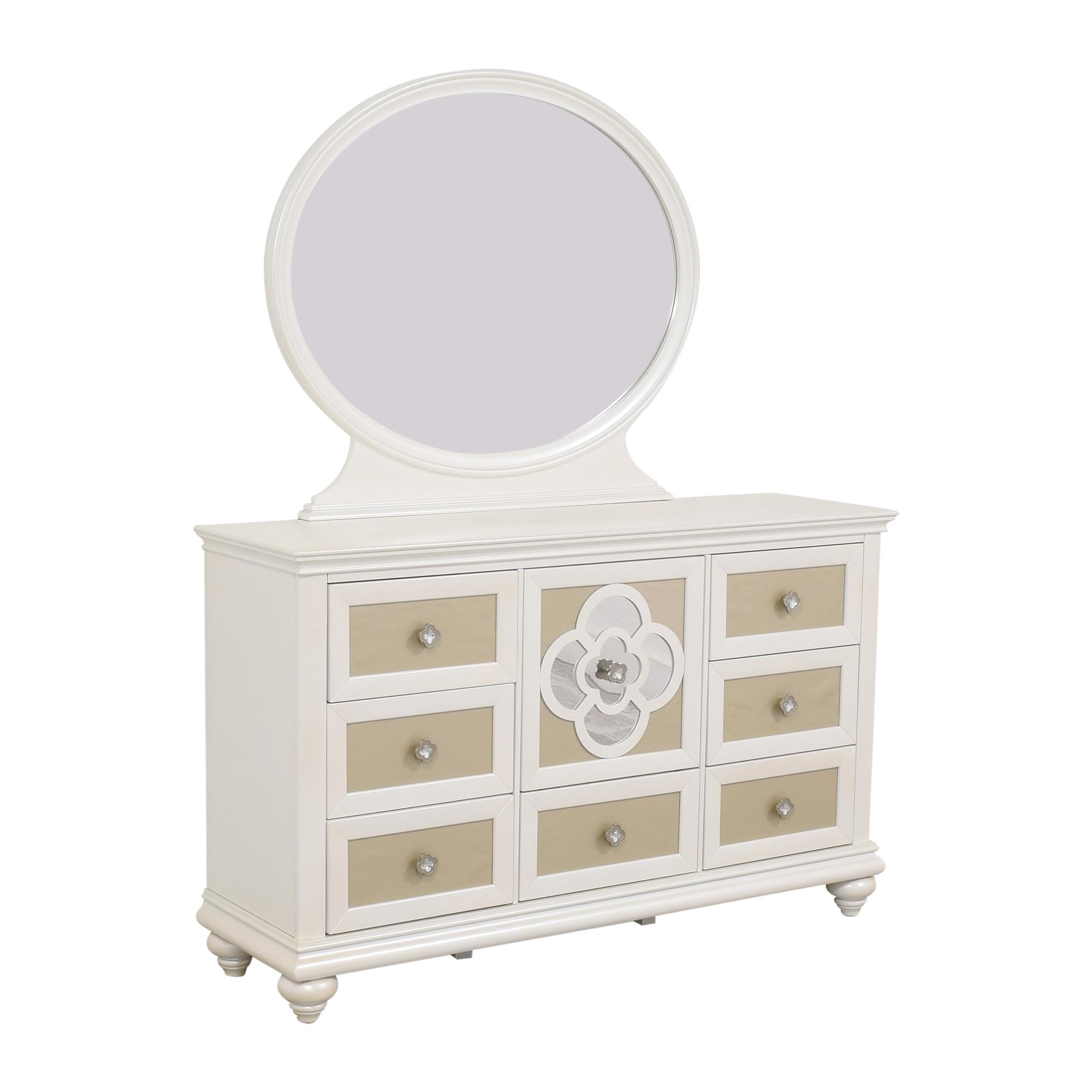 Najarian Furniture Raymour & Flanigan Paris Dresser with Mirror coupon