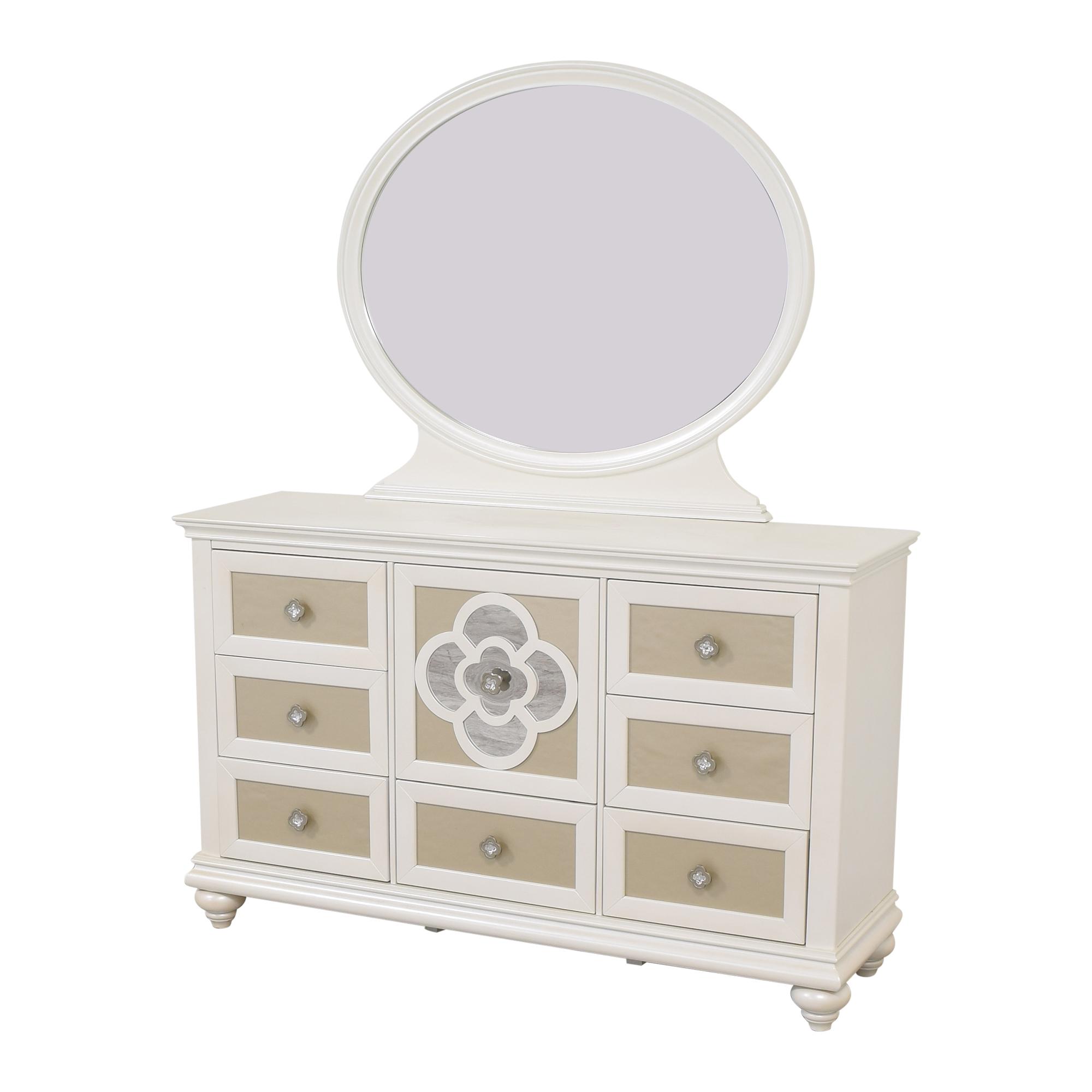 Najarian Furniture Raymour & Flanigan Paris Dresser with Mirror used