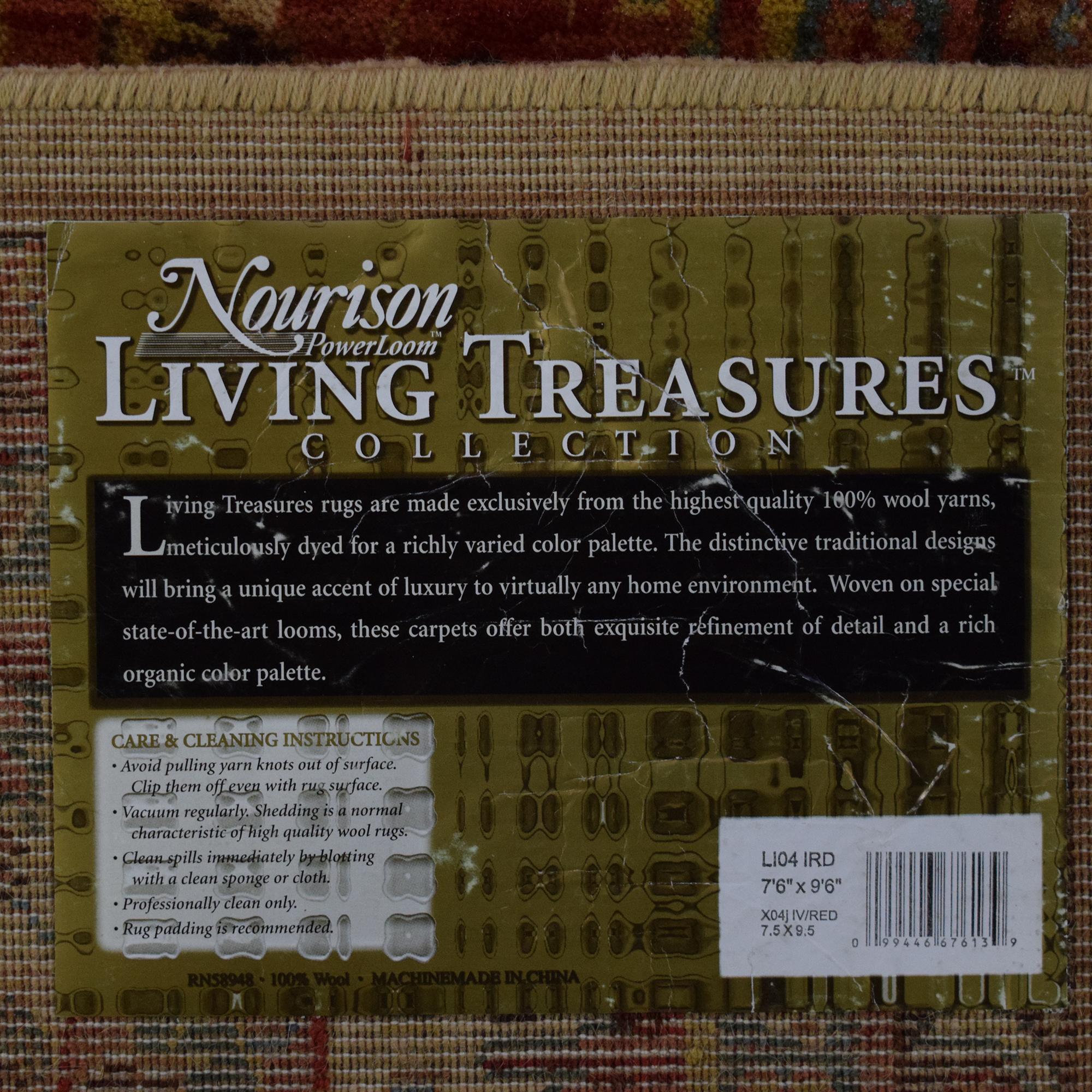 shop Nourison Living Treasures L104 Area Rug Nourison Rugs