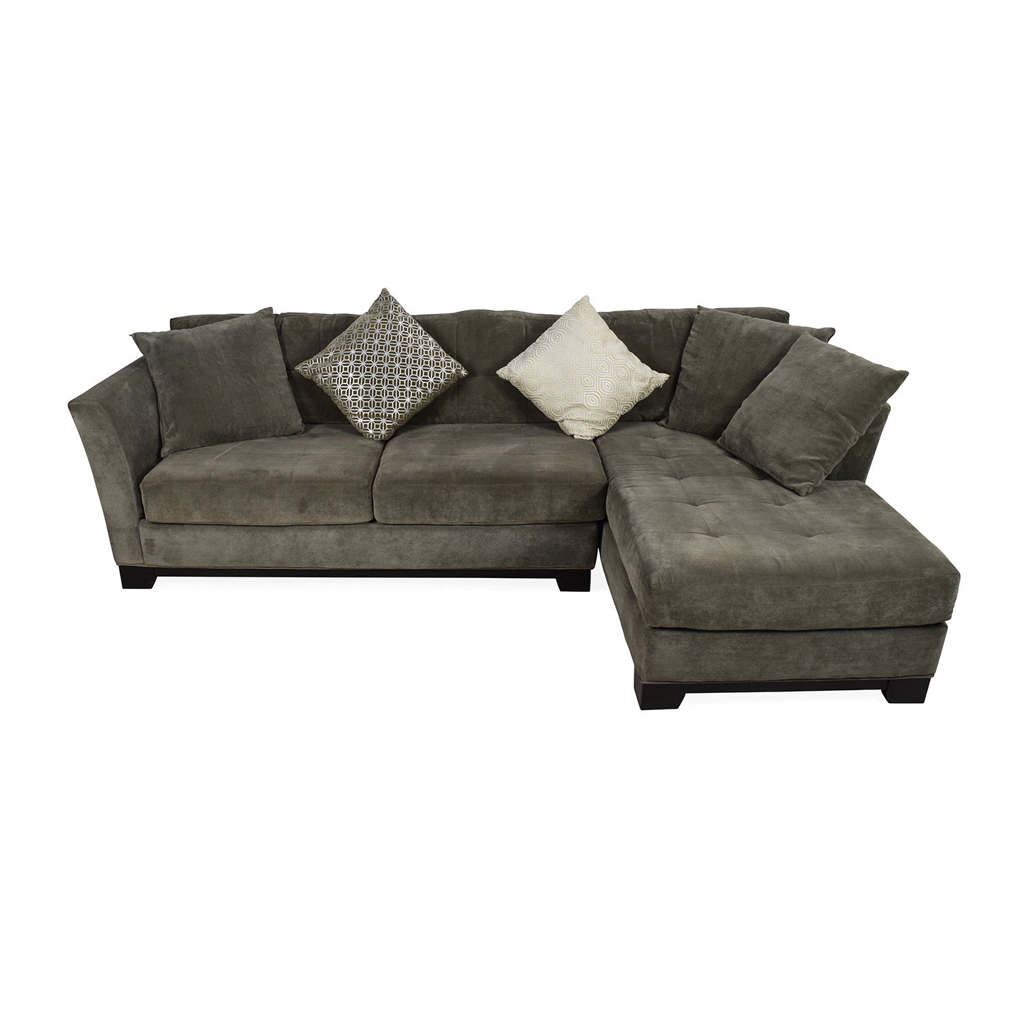 shop Macys Gray Sectional Couch with Chaise Macys Sectionals