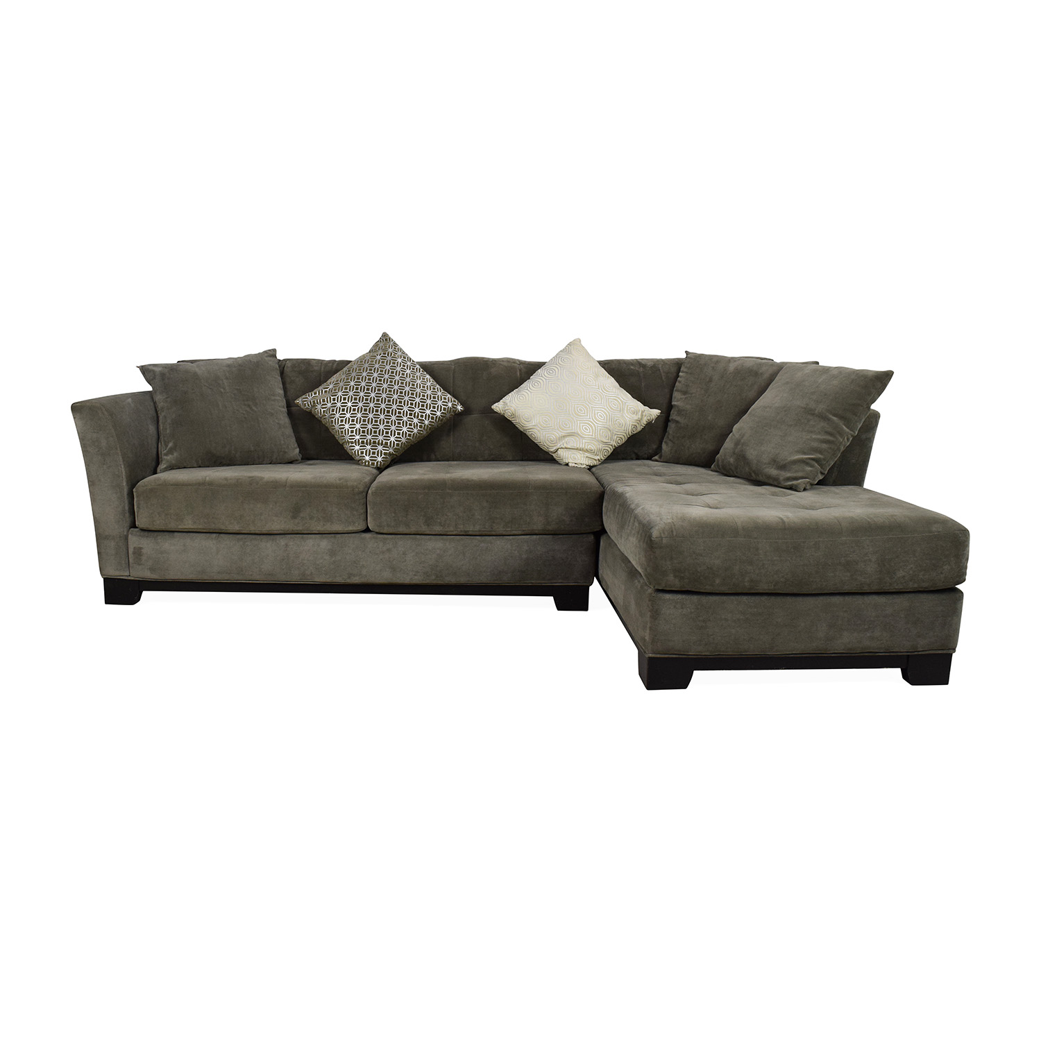 50 Off Macy S Macy S Gray Sectional Couch With Chaise Sofas