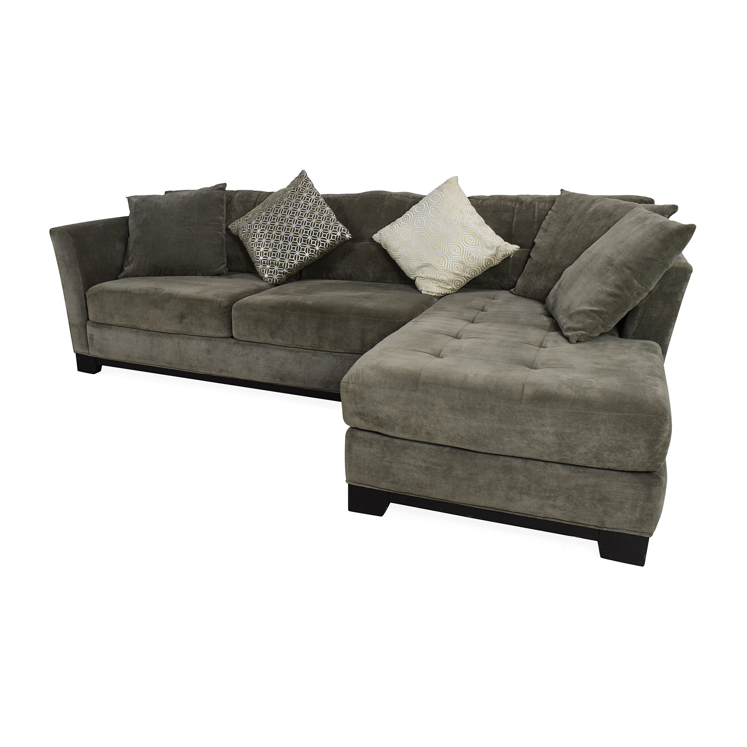 Gray sectional sofa with chaise hereo sofa for Gray microfiber sectional sofa with chaise