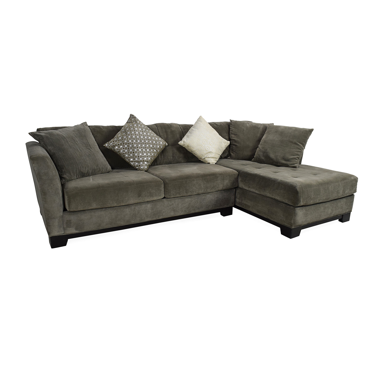 50 Off Macy S Macy S Gray Sectional Couch With Chaise
