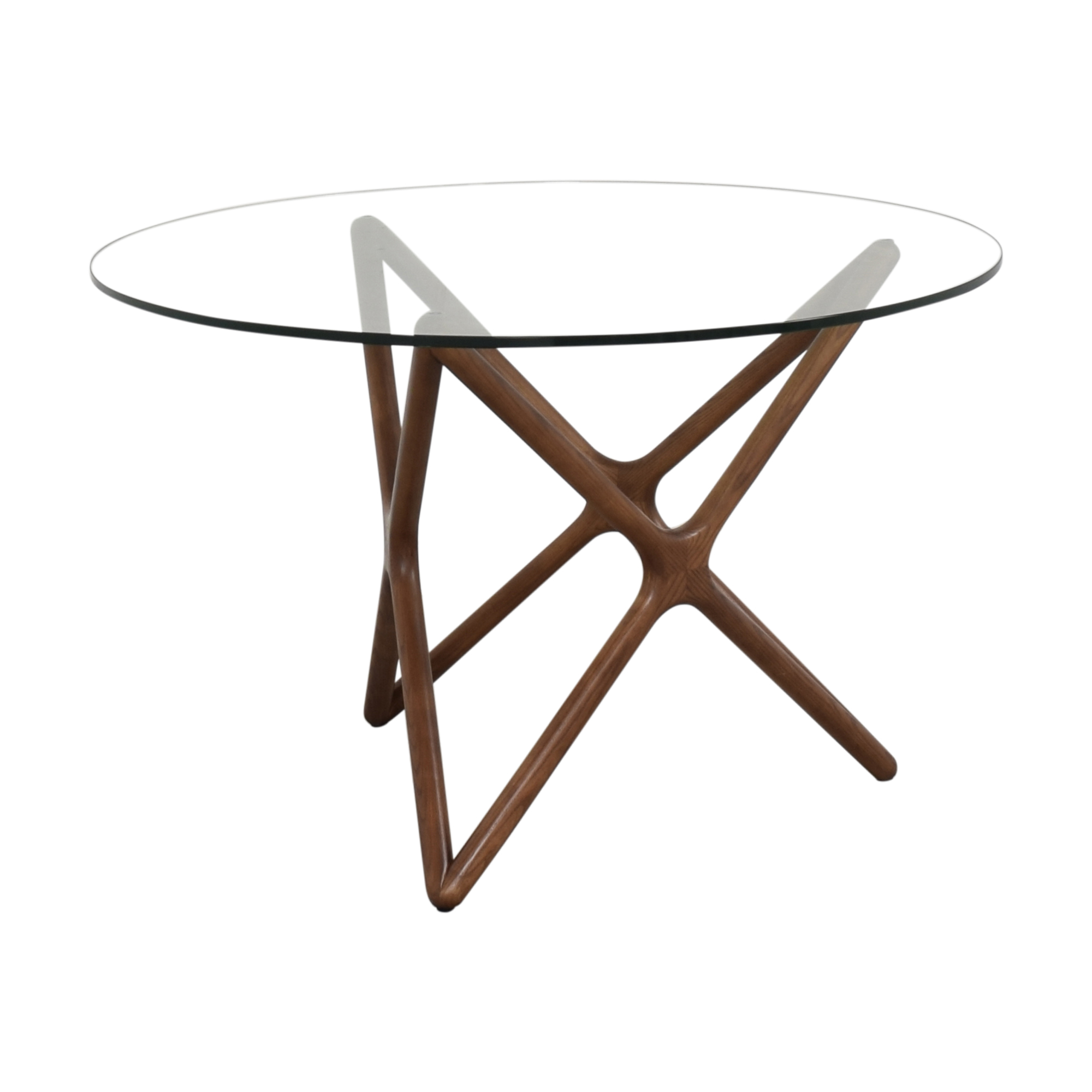 Langley Street Langley Street Bernardino Star Dining Table dark brown and clear