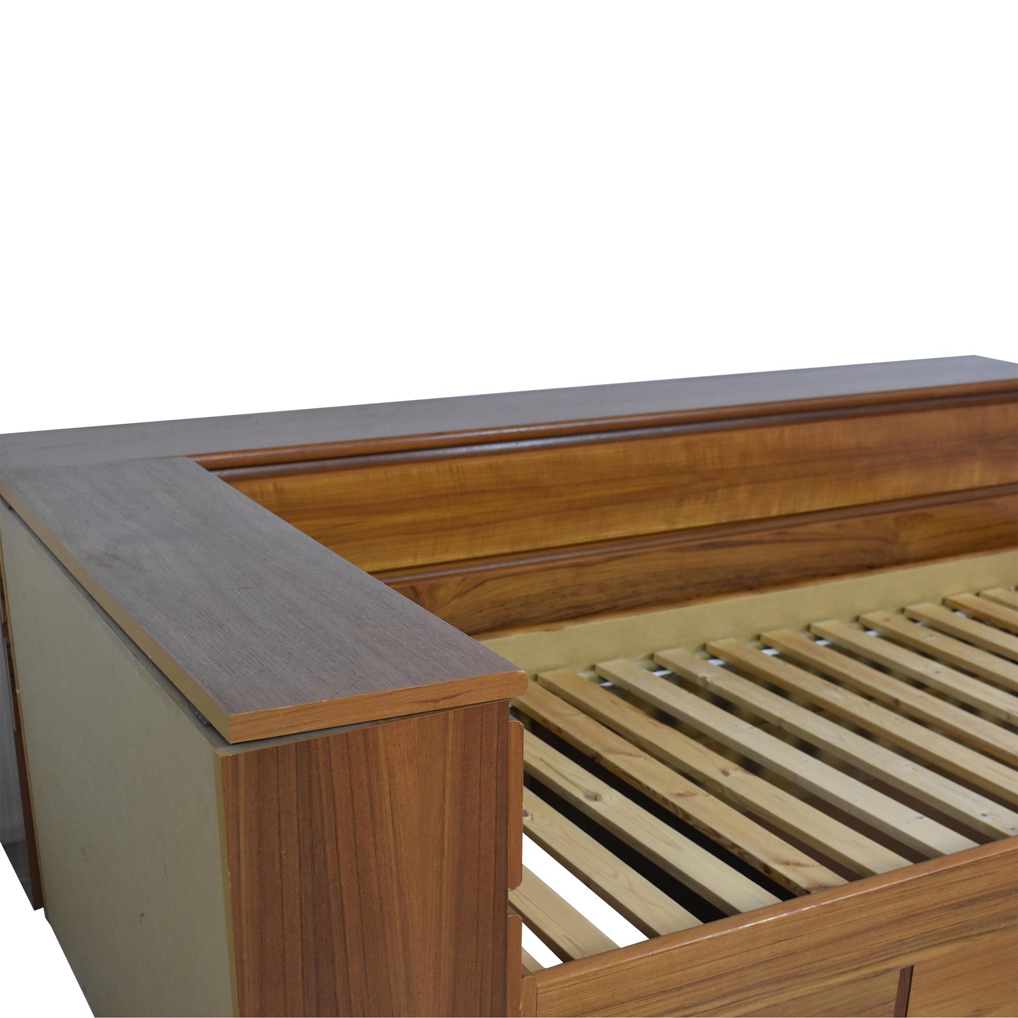 shop Scandinavian Designs Platform Storage Bed Scandinavian Designs Bed Frames