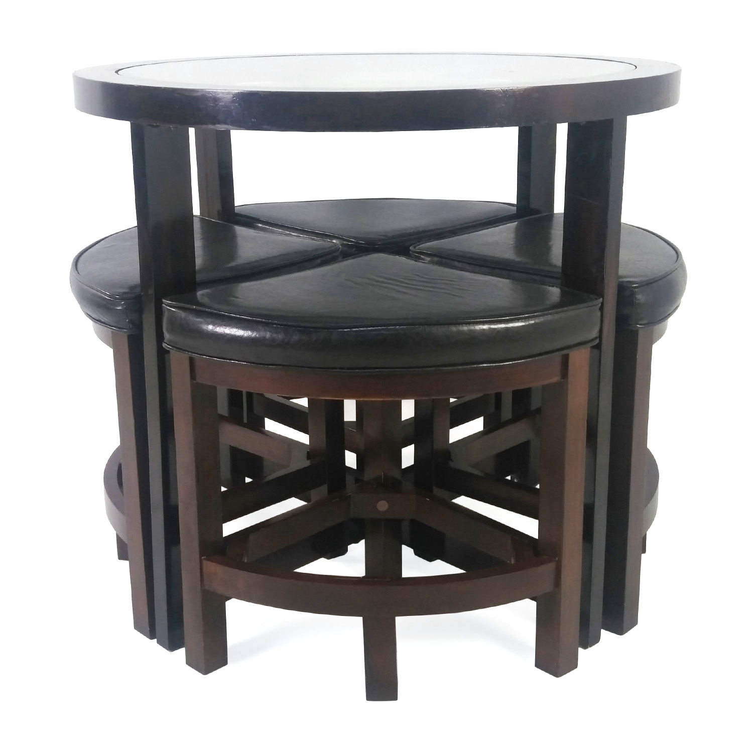 73 off amazon circular dinette with 4 chairs tables for Circular dining table