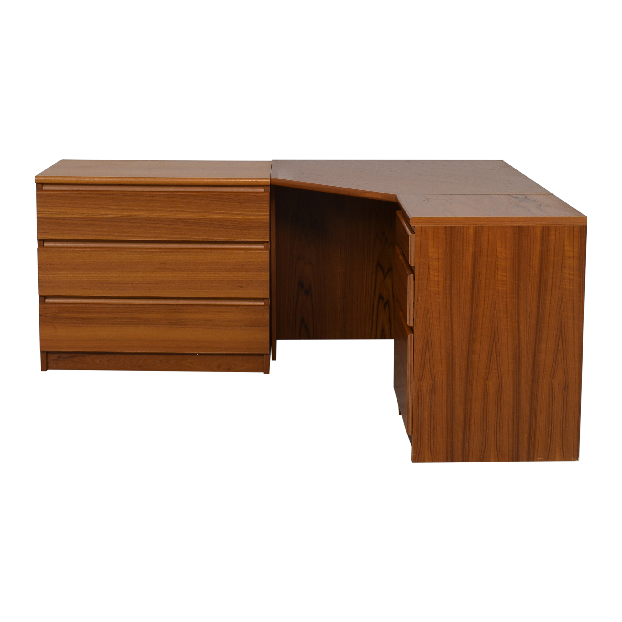 Scandinavian Designs Scandinavian Designs Corner Desk with Storage Cabinet Tables