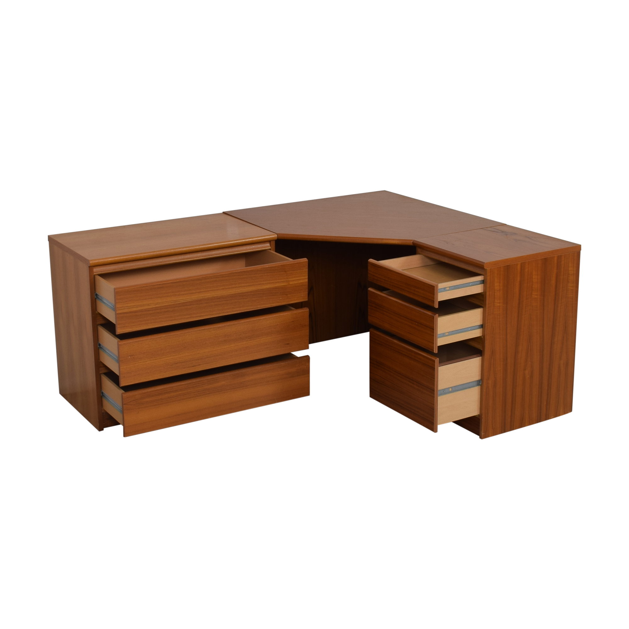 Scandinavian Designs Corner Desk with Storage Cabinet / Home Office Desks