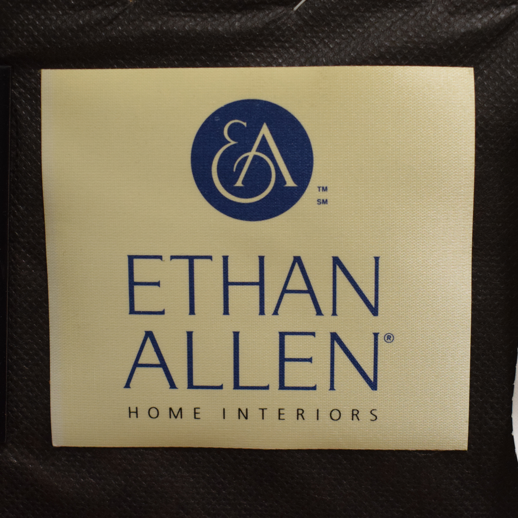 Ethan Allen Ethan Allen Studded Wingback Recliner brown
