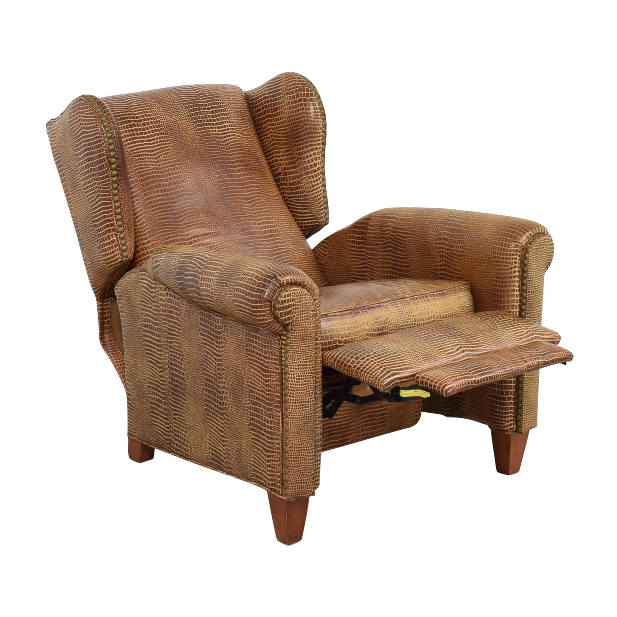 Ethan Allen Ethan Allen Studded Wingback Recliner Chairs