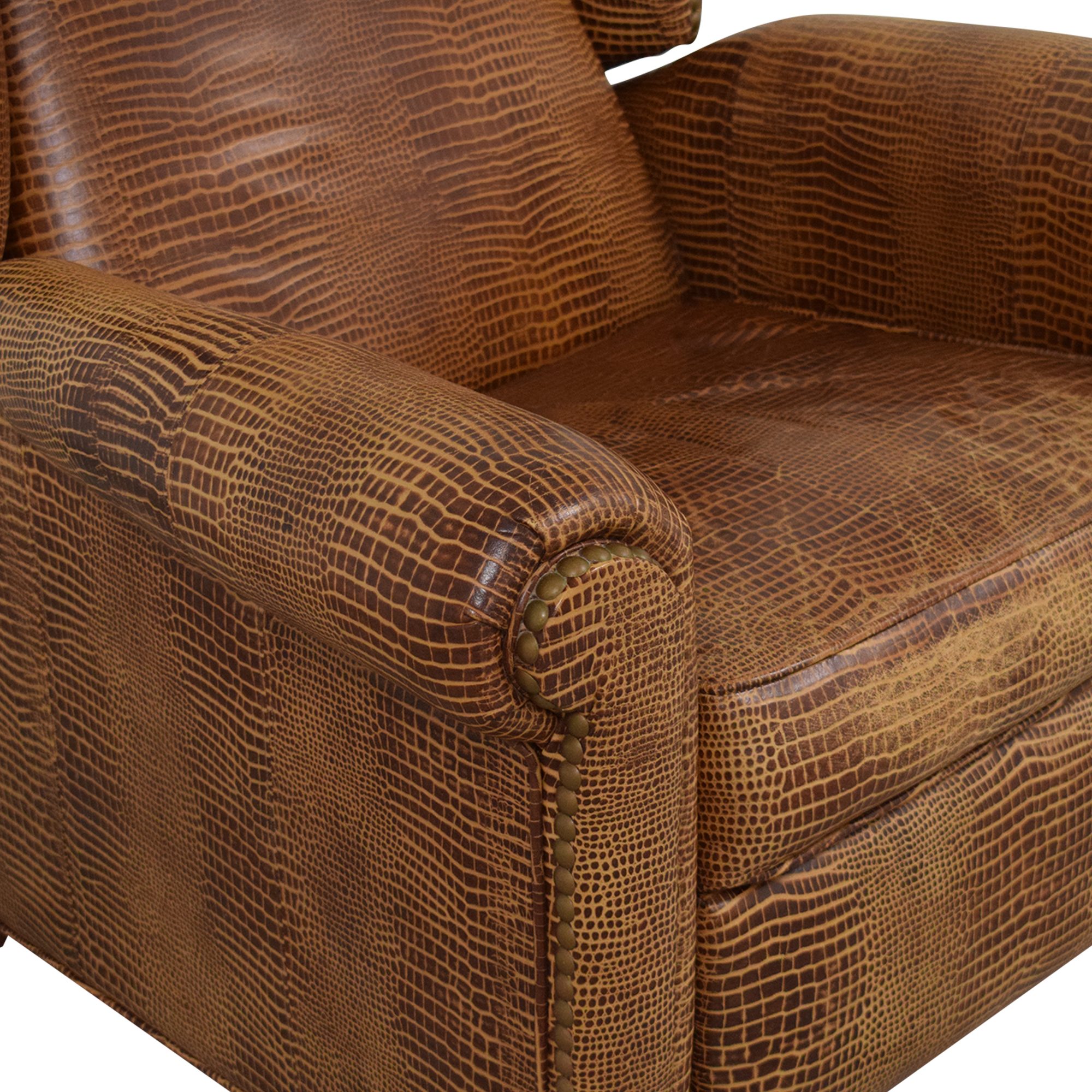 Ethan Allen Studded Wingback Recliner / Chairs
