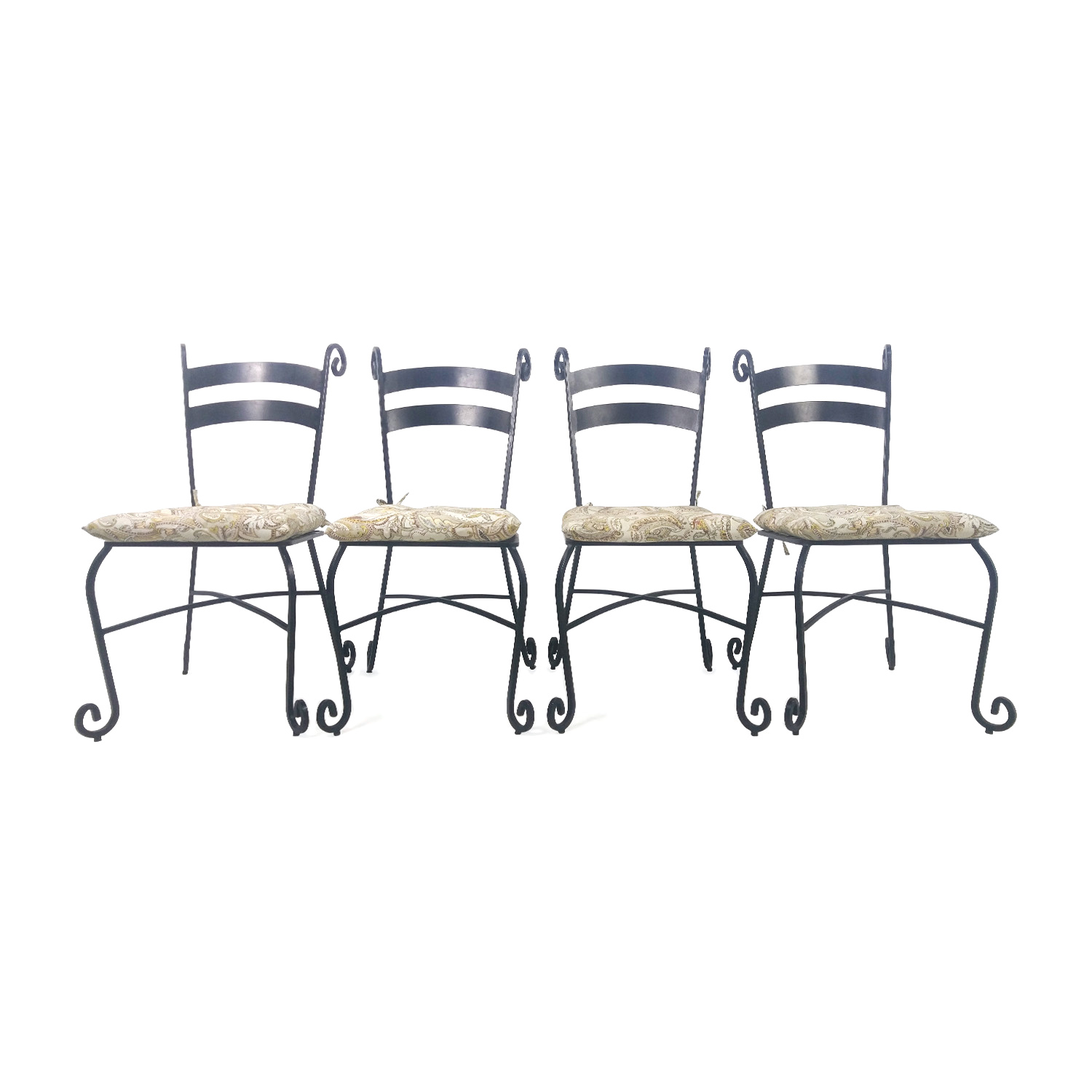 Iron Outdoor Chairs Set of 4 nyc