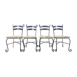 Iron Outdoor Chairs Set of 4 nj