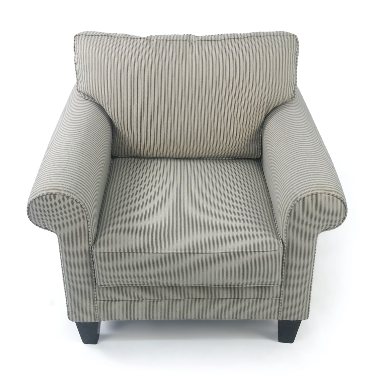 buy Striped Cream Armchair Raymour and Flanigan