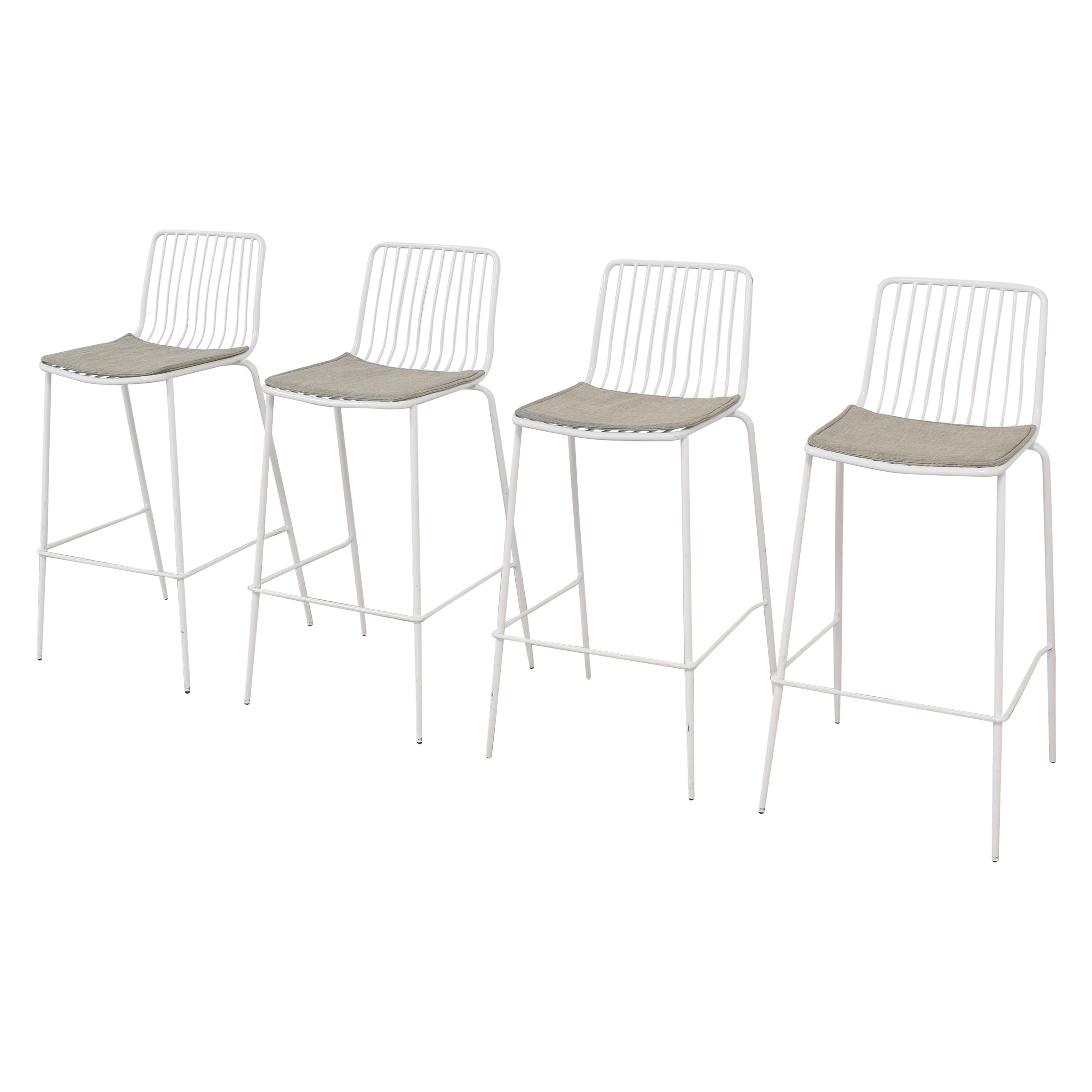 Ace Bayou White Metal Bar Stools / Chairs