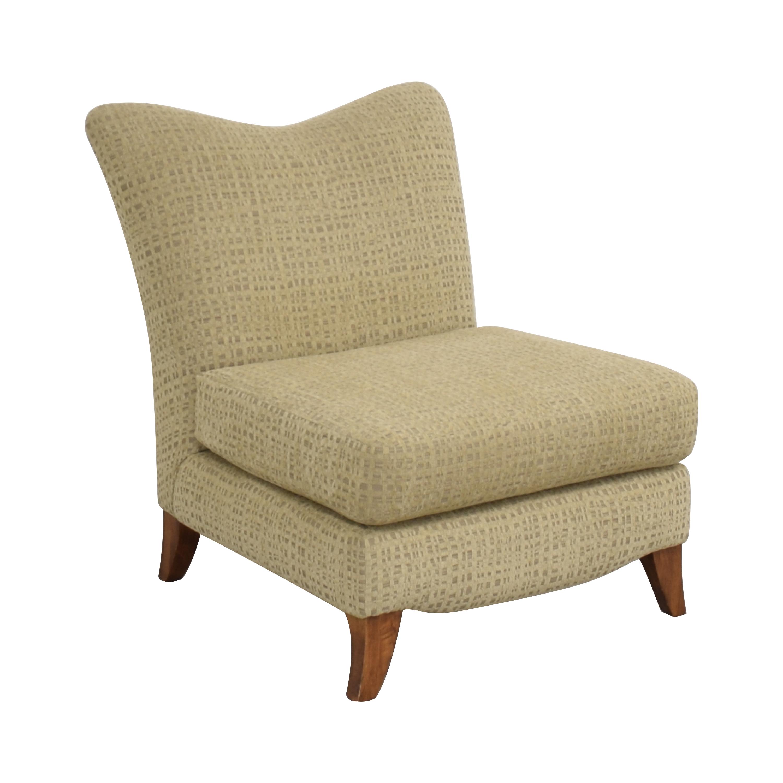 Upholstered Slipper Chair used