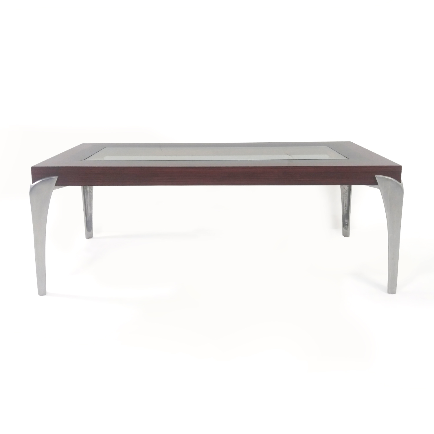 Glass and Wood Coffee Table discount
