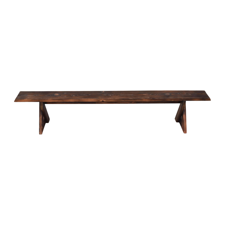 shop Shou Sugi Ban Reclaimed Bench