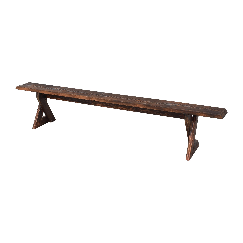 Shou Sugi Ban Reclaimed Bench