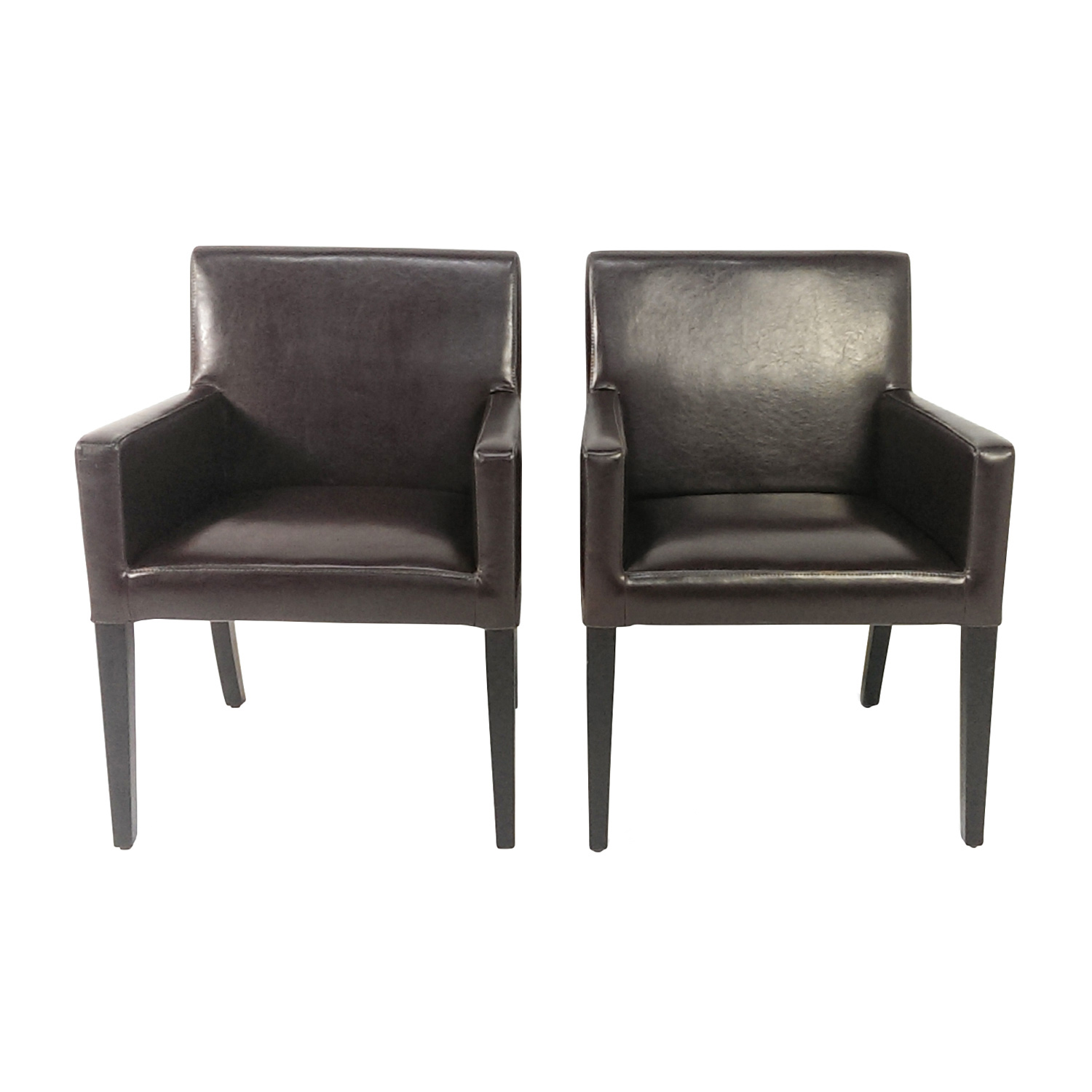 Pair of Leather Office Chairs second hand
