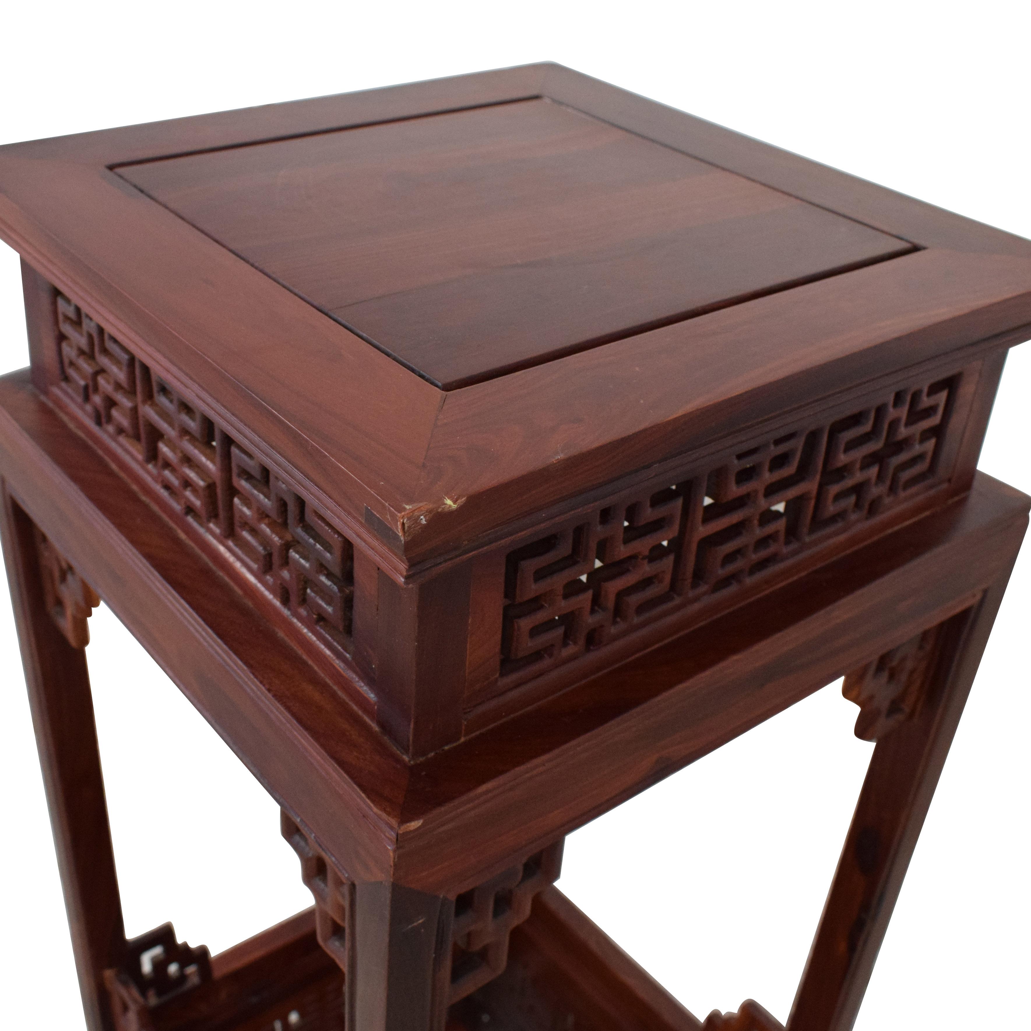 Custom Carved Side Table