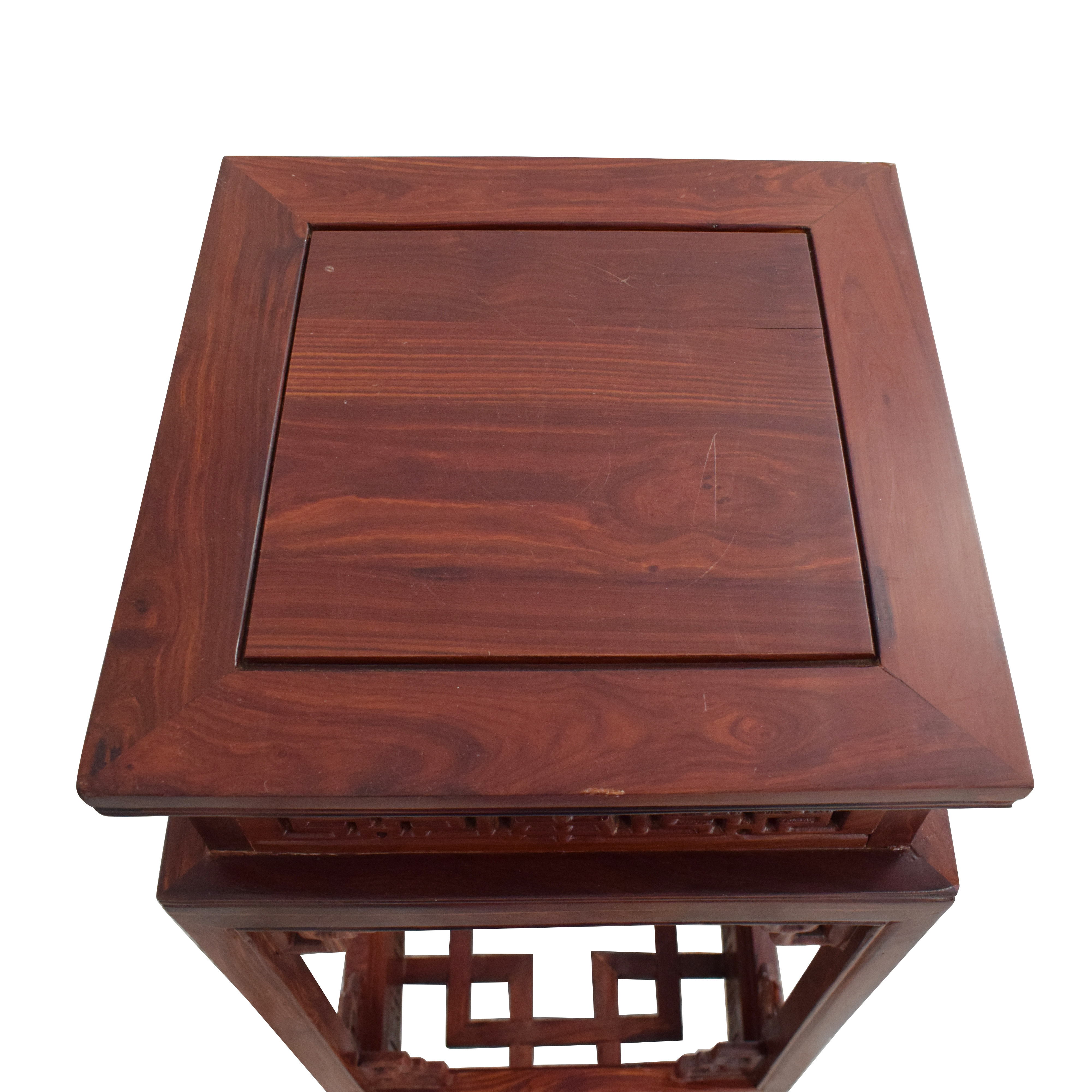 Custom Carved Side Table second hand