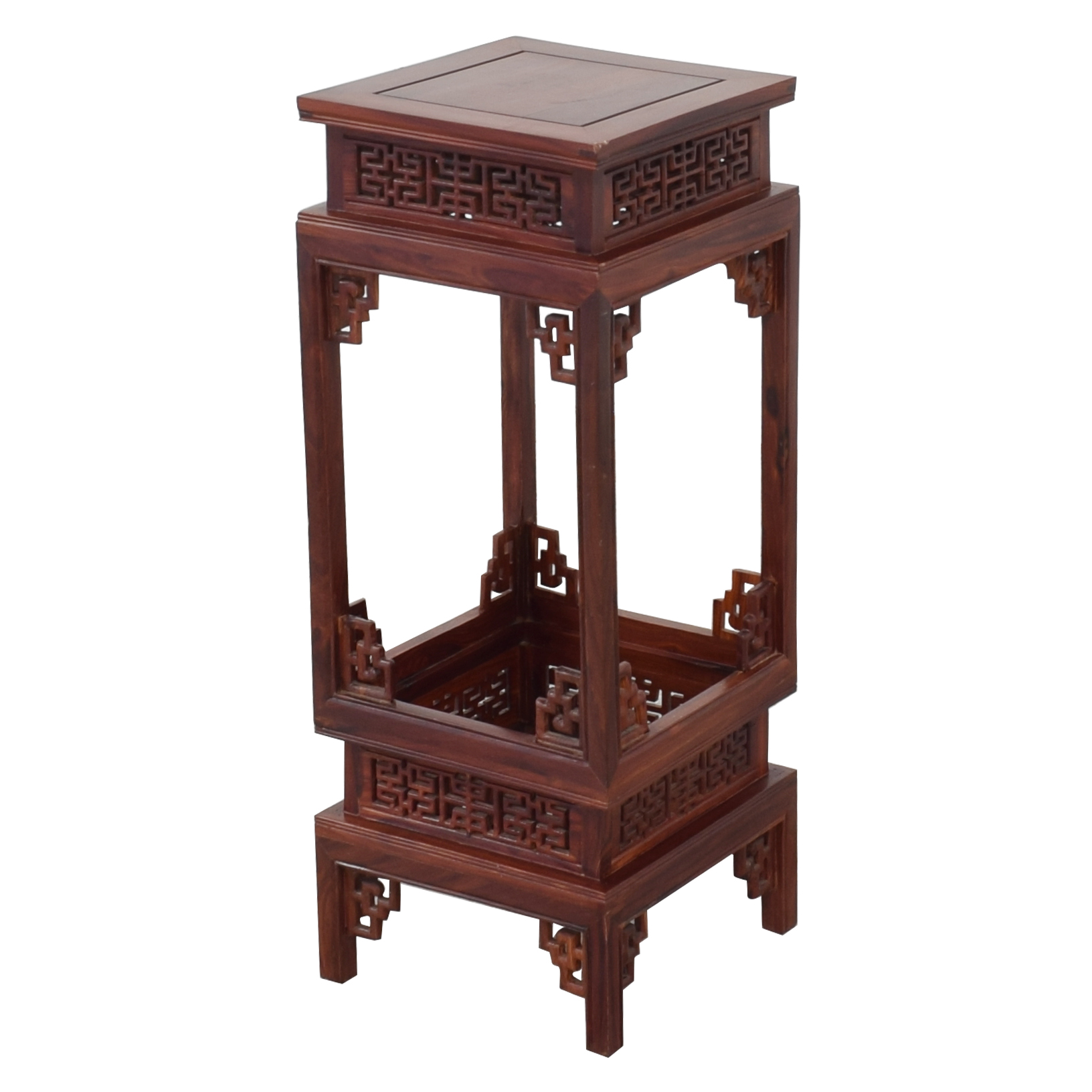 Custom Carved Side Table ma