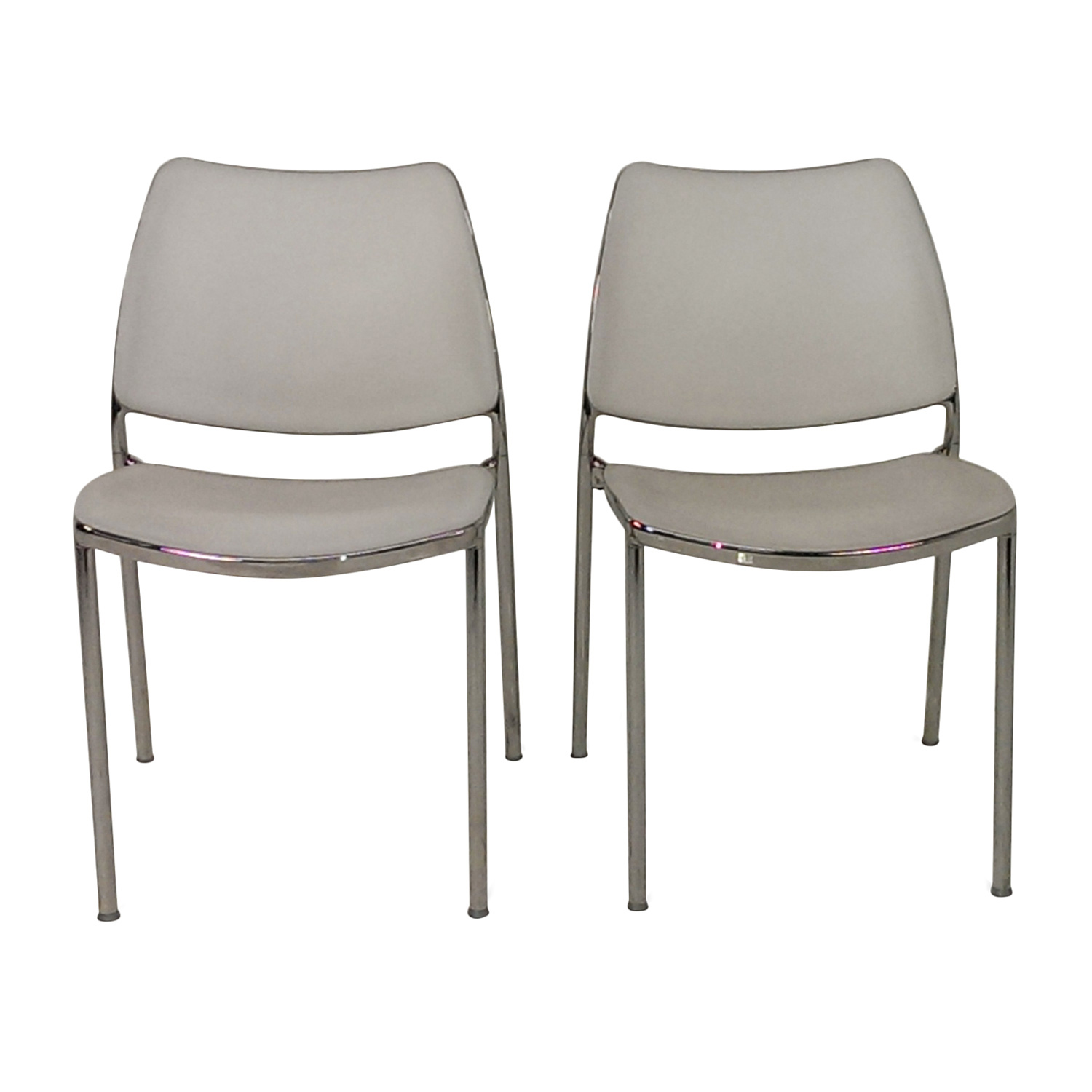 Pair of White Kitchen Chairs used