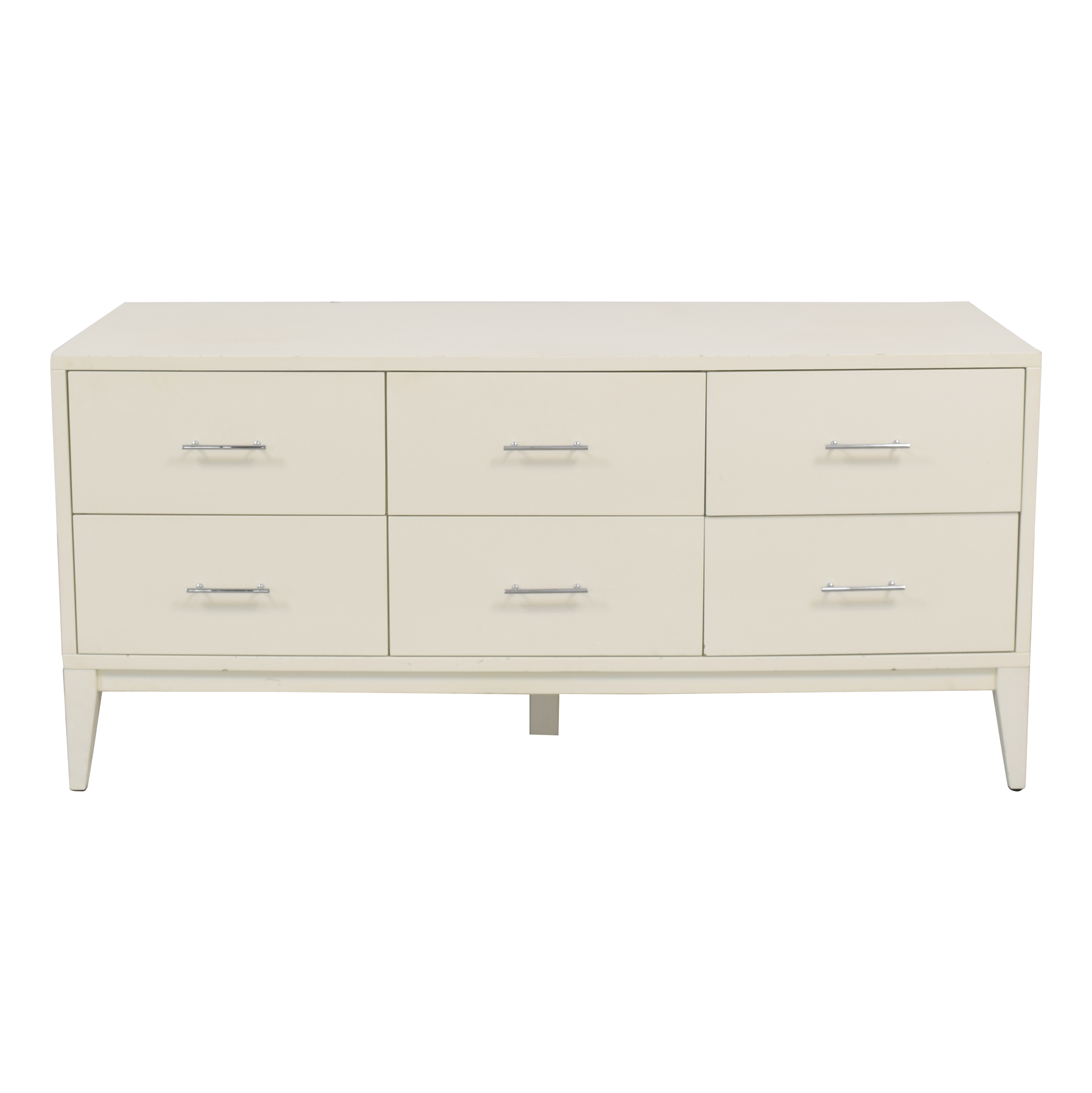 West Elm Narrow Leg Six Drawer Dresser / Storage
