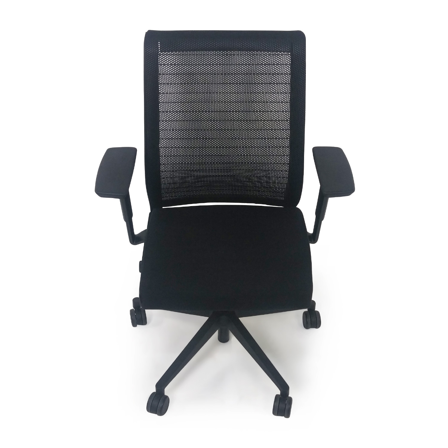 56% OFF Black Leather and Wood Chairs Chairs