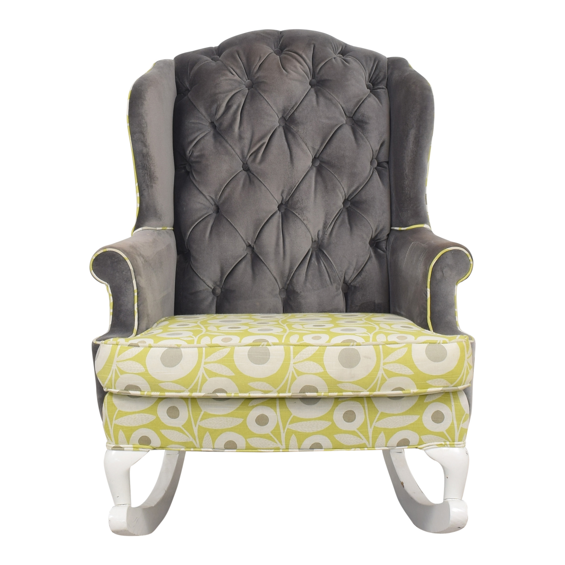 Rocker Refined Rocker Refined Custom Wingback Rocking Chair discount