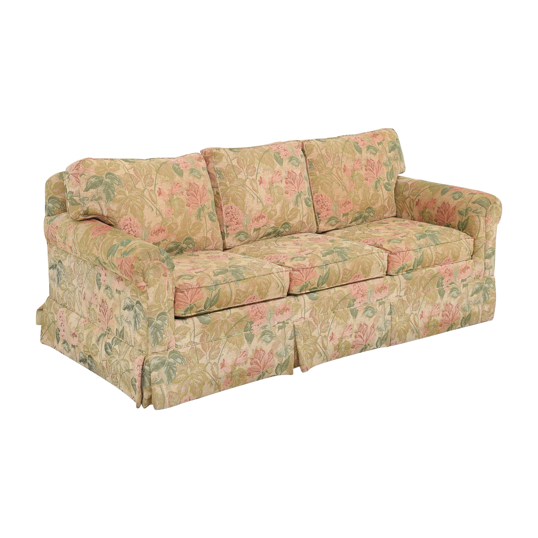 Ethan Allen Floral Skirted Sofa sale
