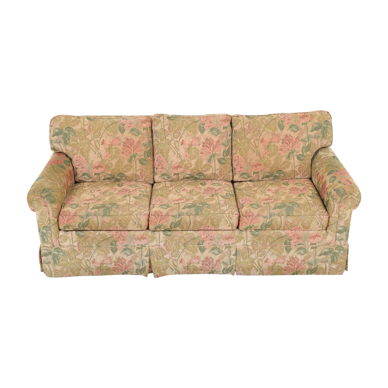 Ethan Allen Ethan Allen Floral Skirted Sofa dimensions