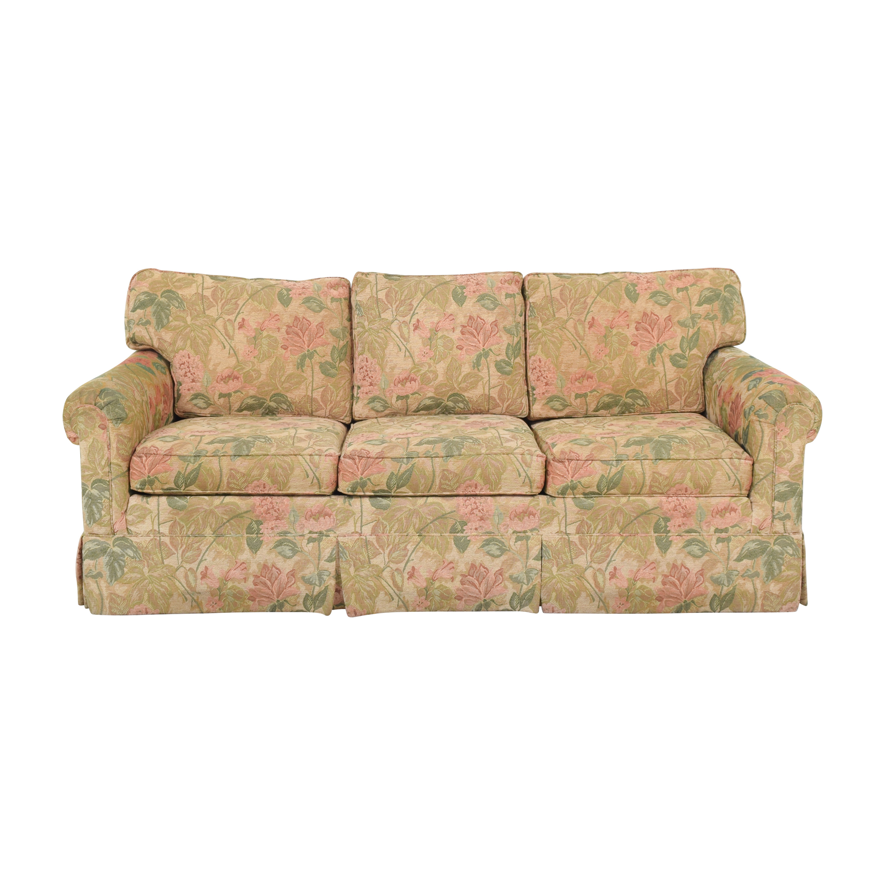 Ethan Allen Ethan Allen Floral Skirted Sofa nyc