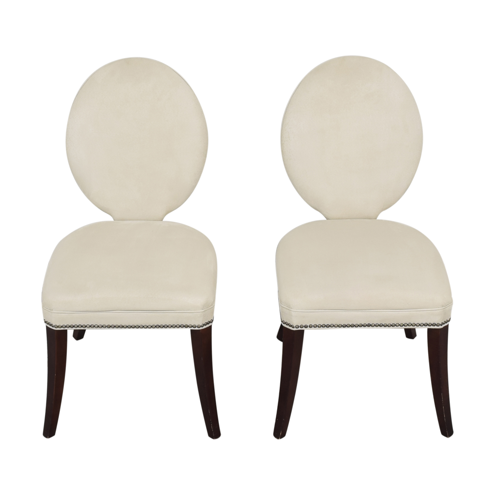 Mitchell Gold + Bob Williams Mitchell Gold + Bob Williams Oval Back Side Chairs pa