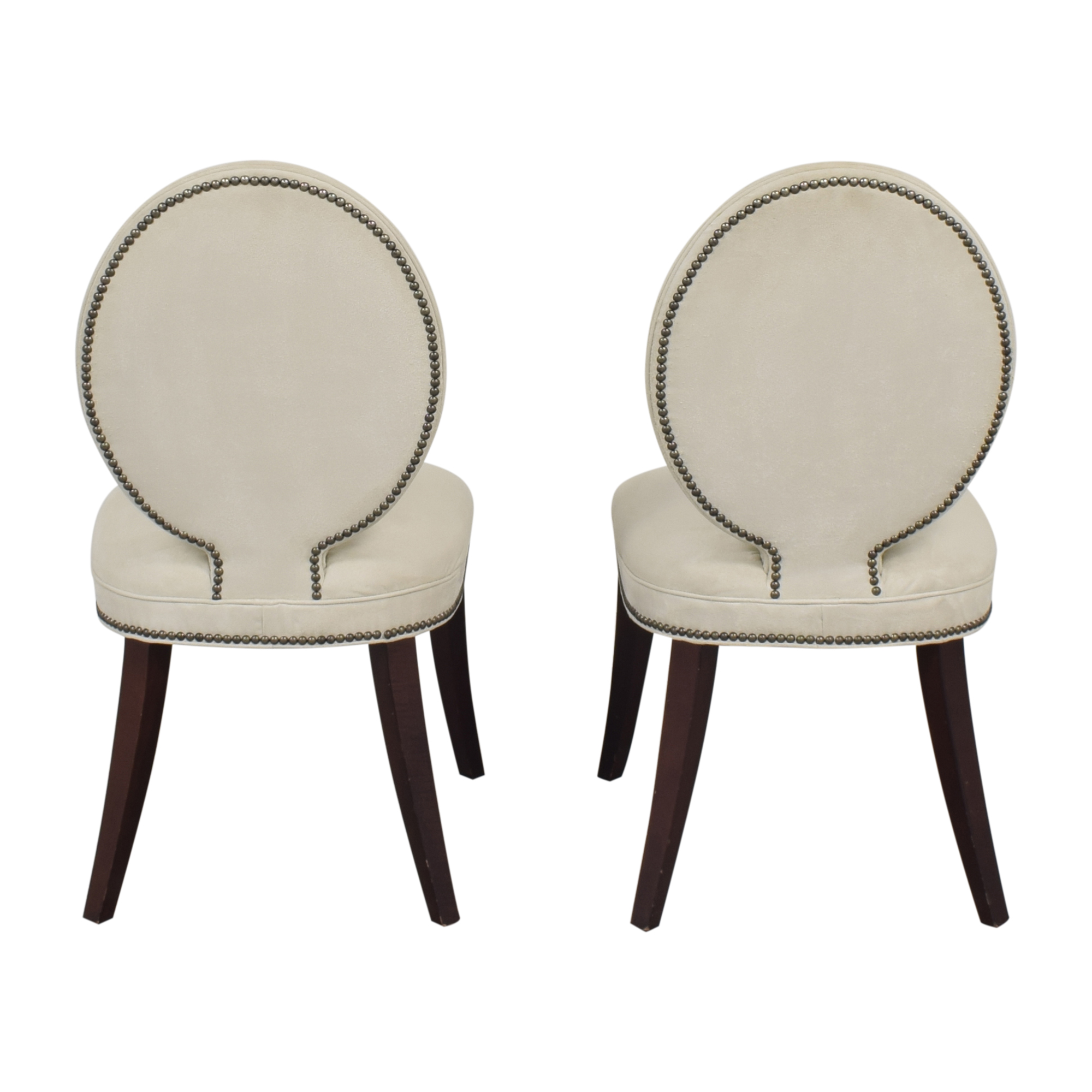 Mitchell Gold + Bob Williams Mitchell Gold + Bob Williams Oval Back Side Chairs discount