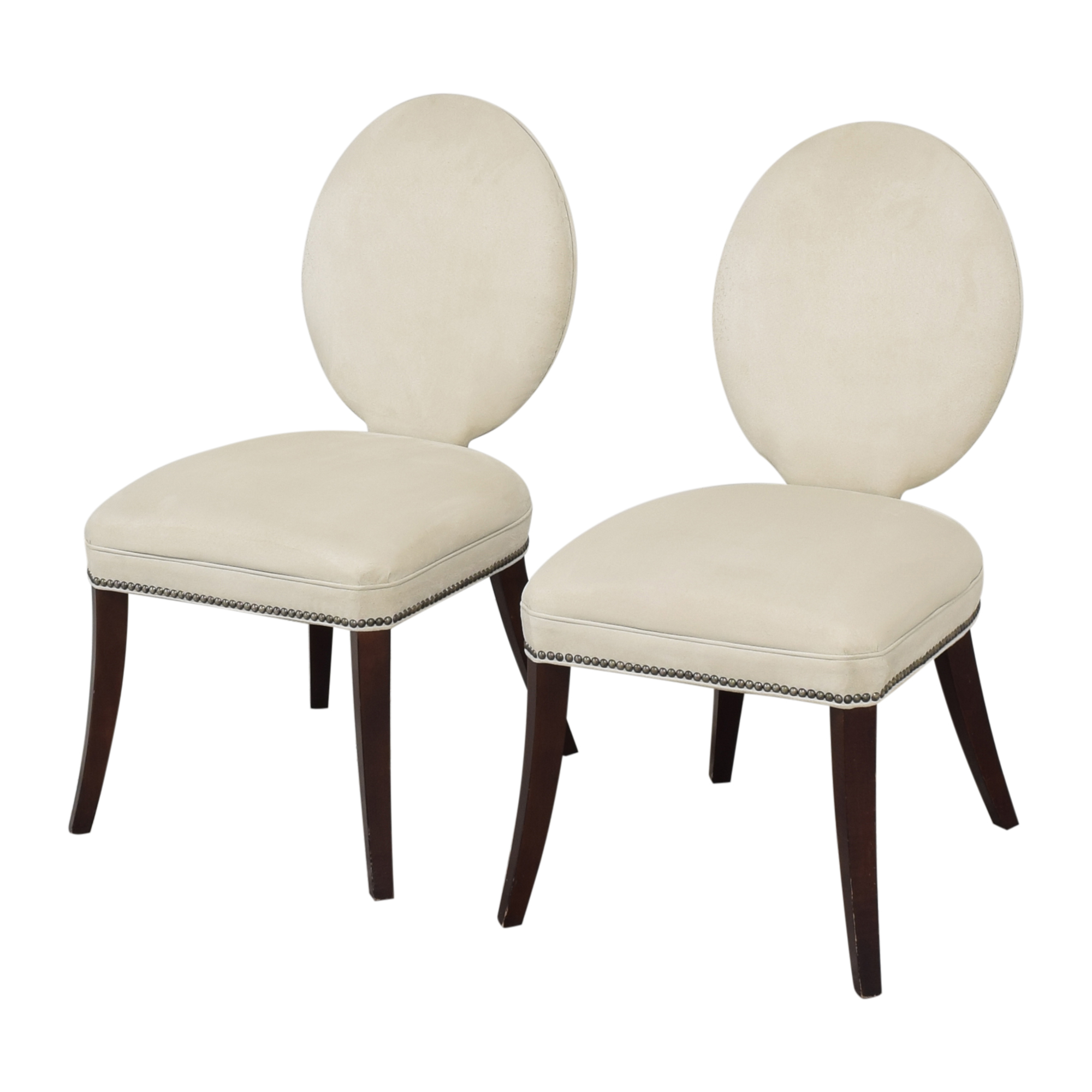 Mitchell Gold + Bob Williams Mitchell Gold + Bob Williams Oval Back Side Chairs dimensions
