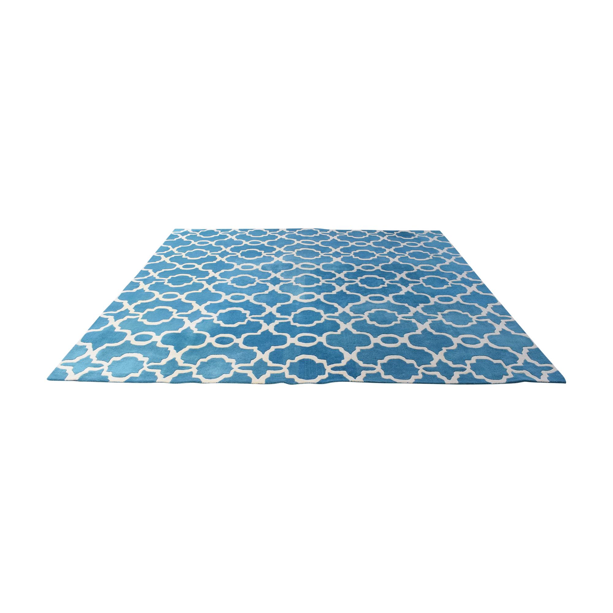 Kaleen Cosmopolitan Trellis Large Square Rug / Decor