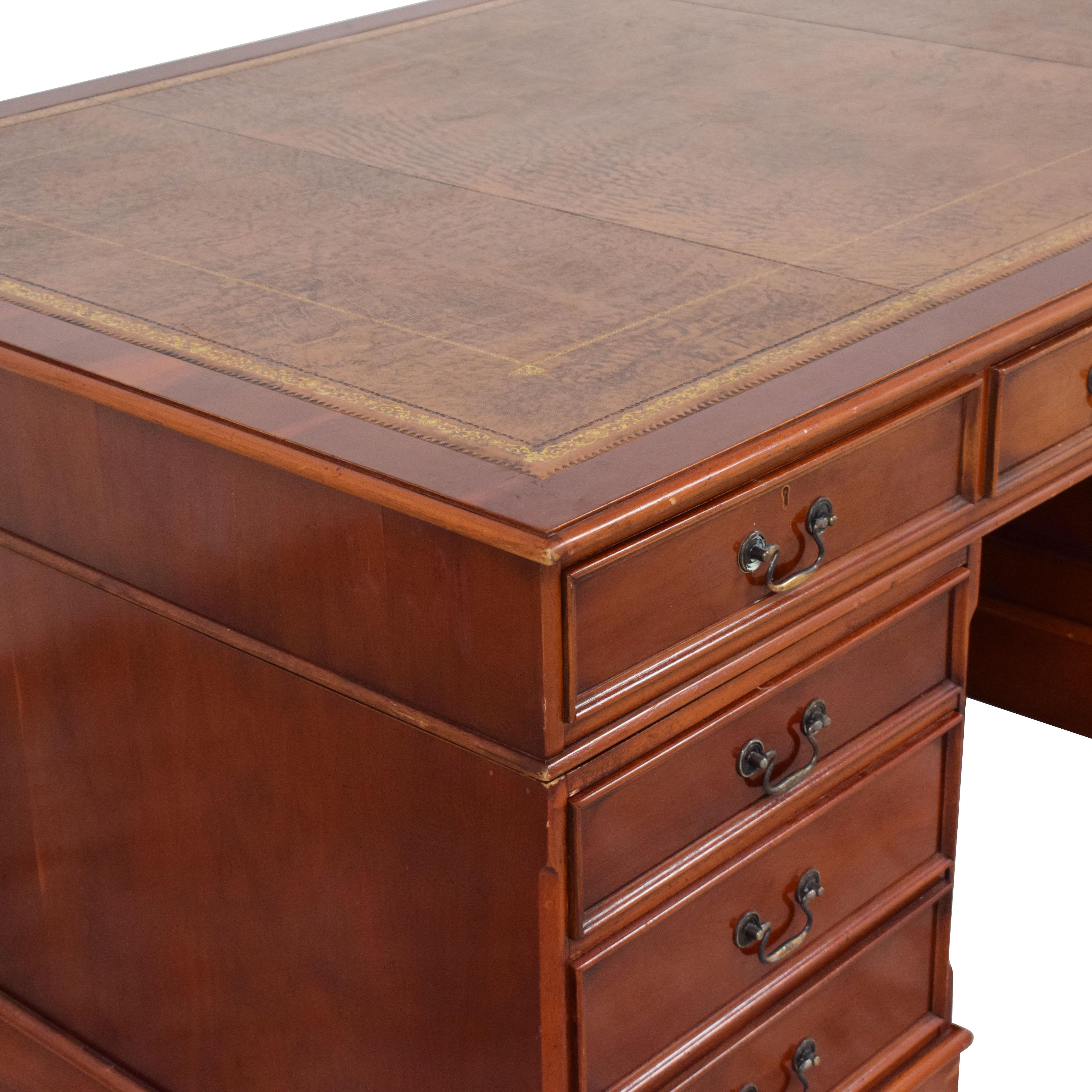 buy Vintage 19th Century Style Partner's Desk  Tables