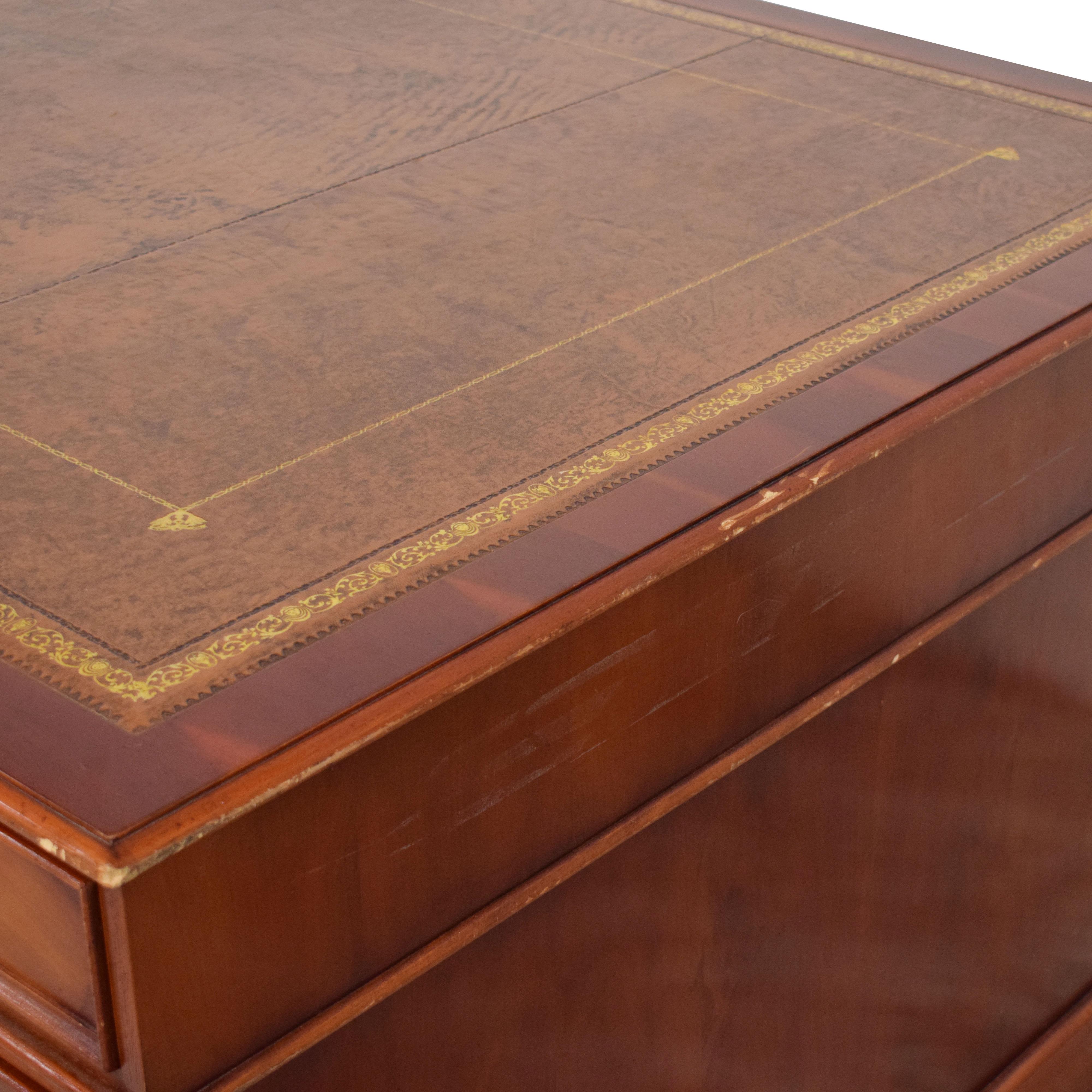 Vintage 19th Century Style Partner's Desk discount