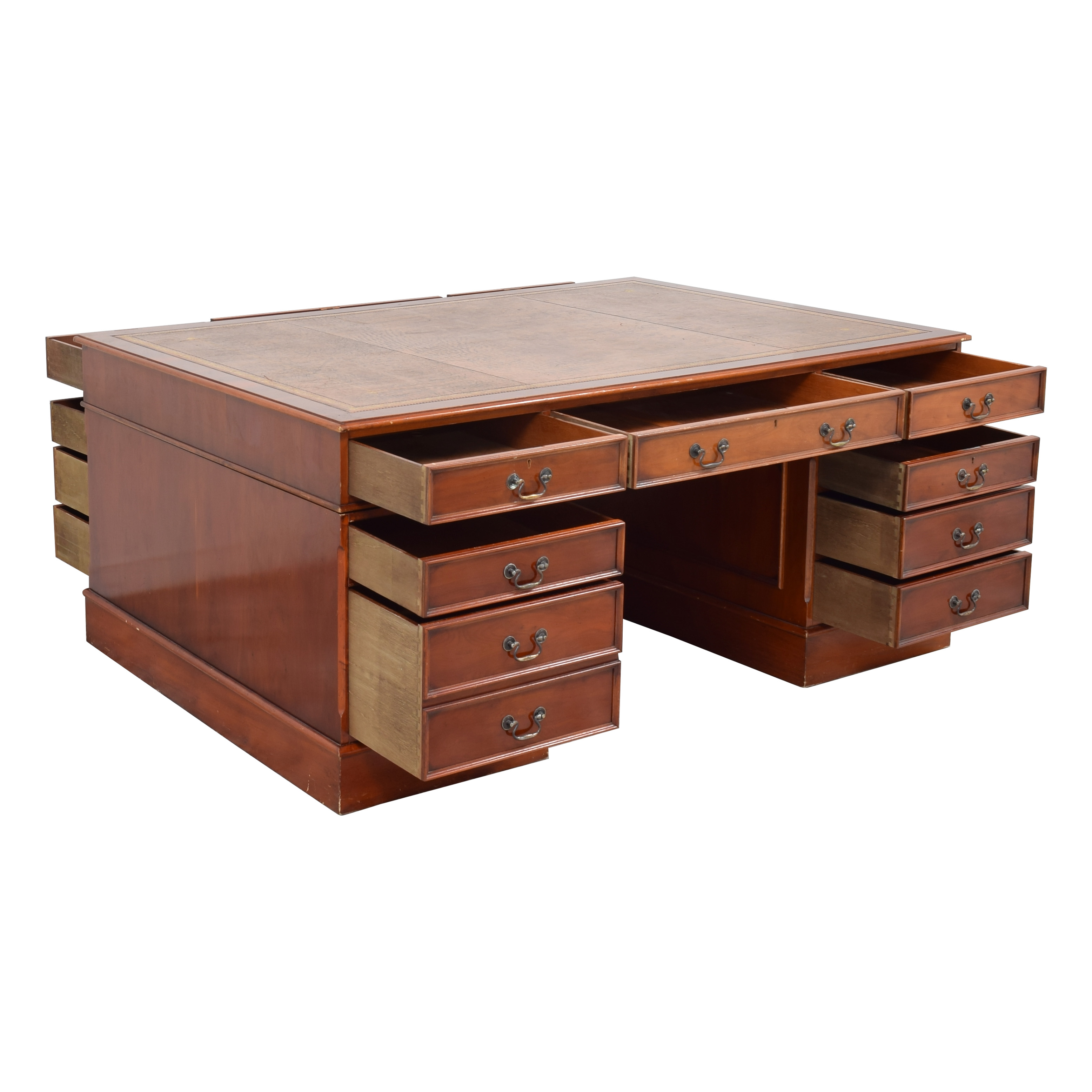 Vintage 19th Century Style Partner's Desk second hand
