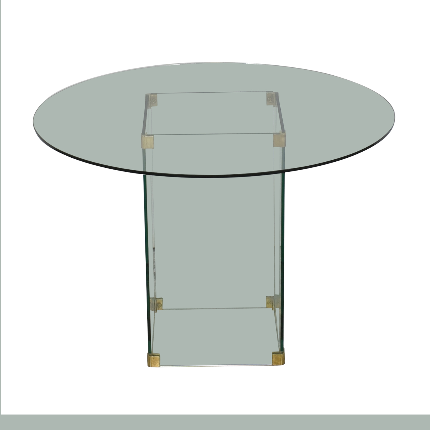 Round Glass Dining Table nj