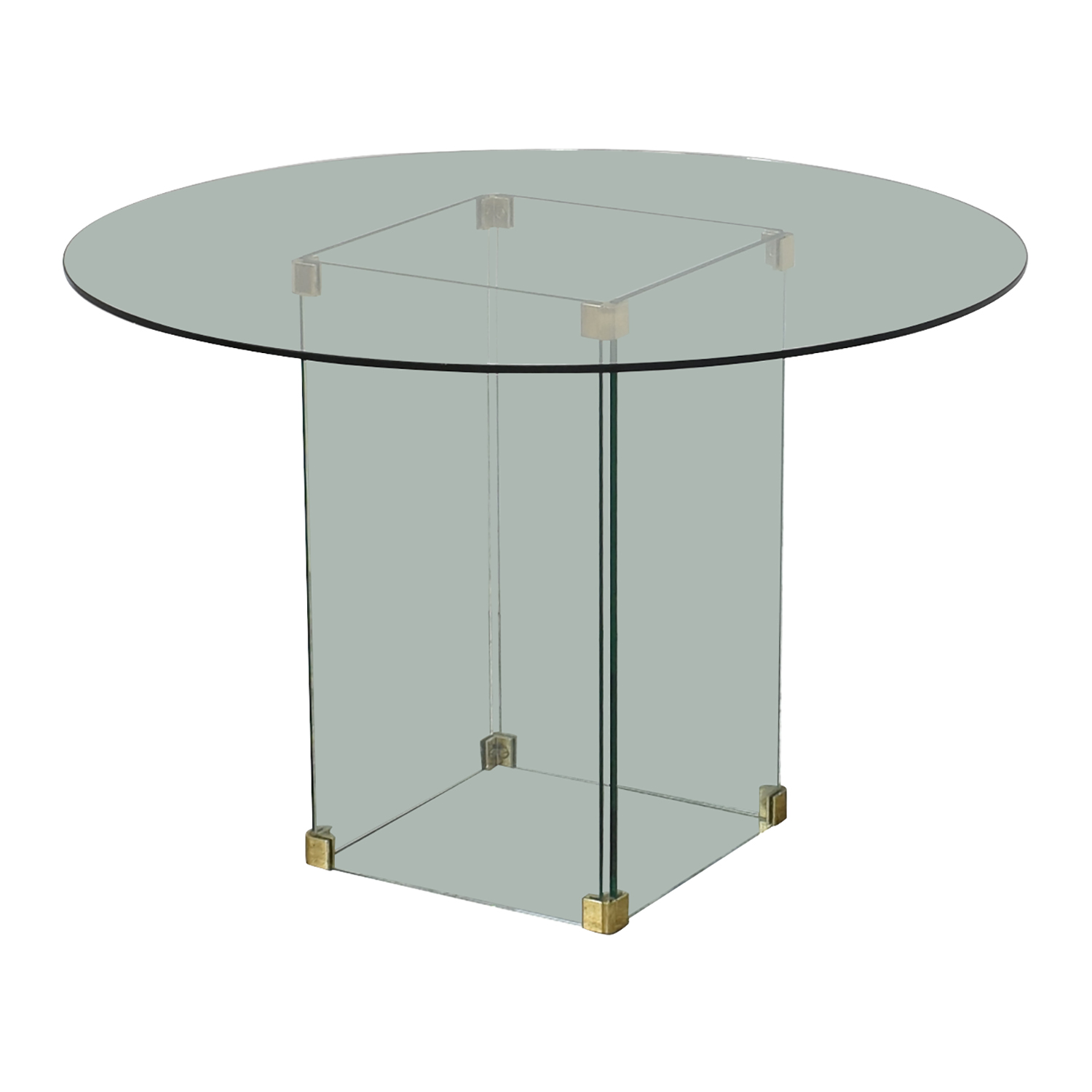 Round Glass Dining Table on sale