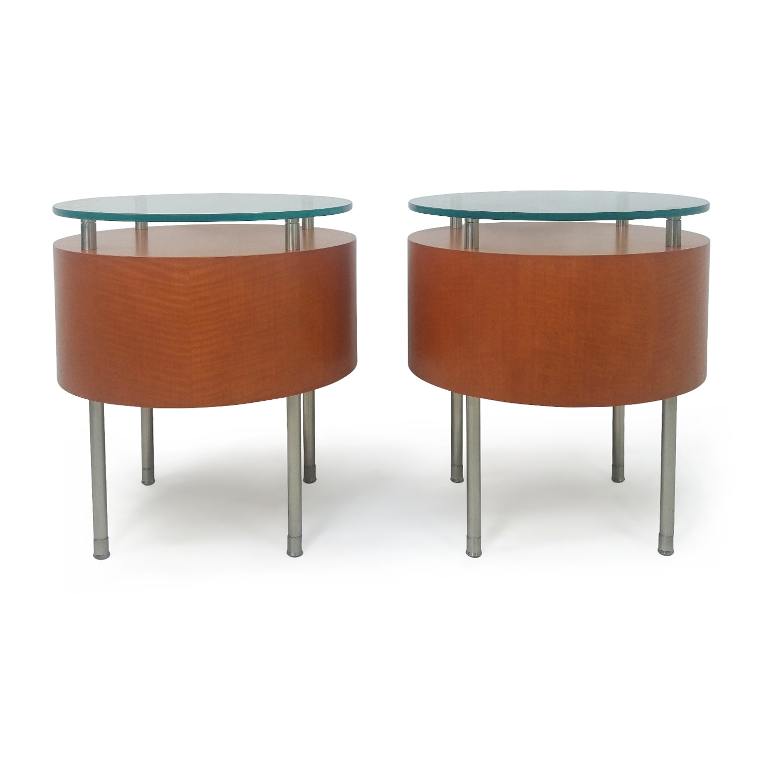 shop Pair of Round Side Tables