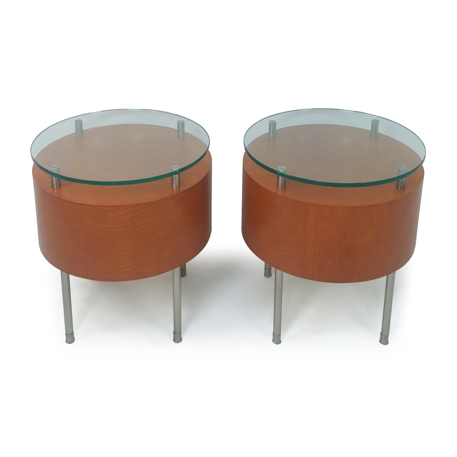 Pair of Round Side Tables nyc