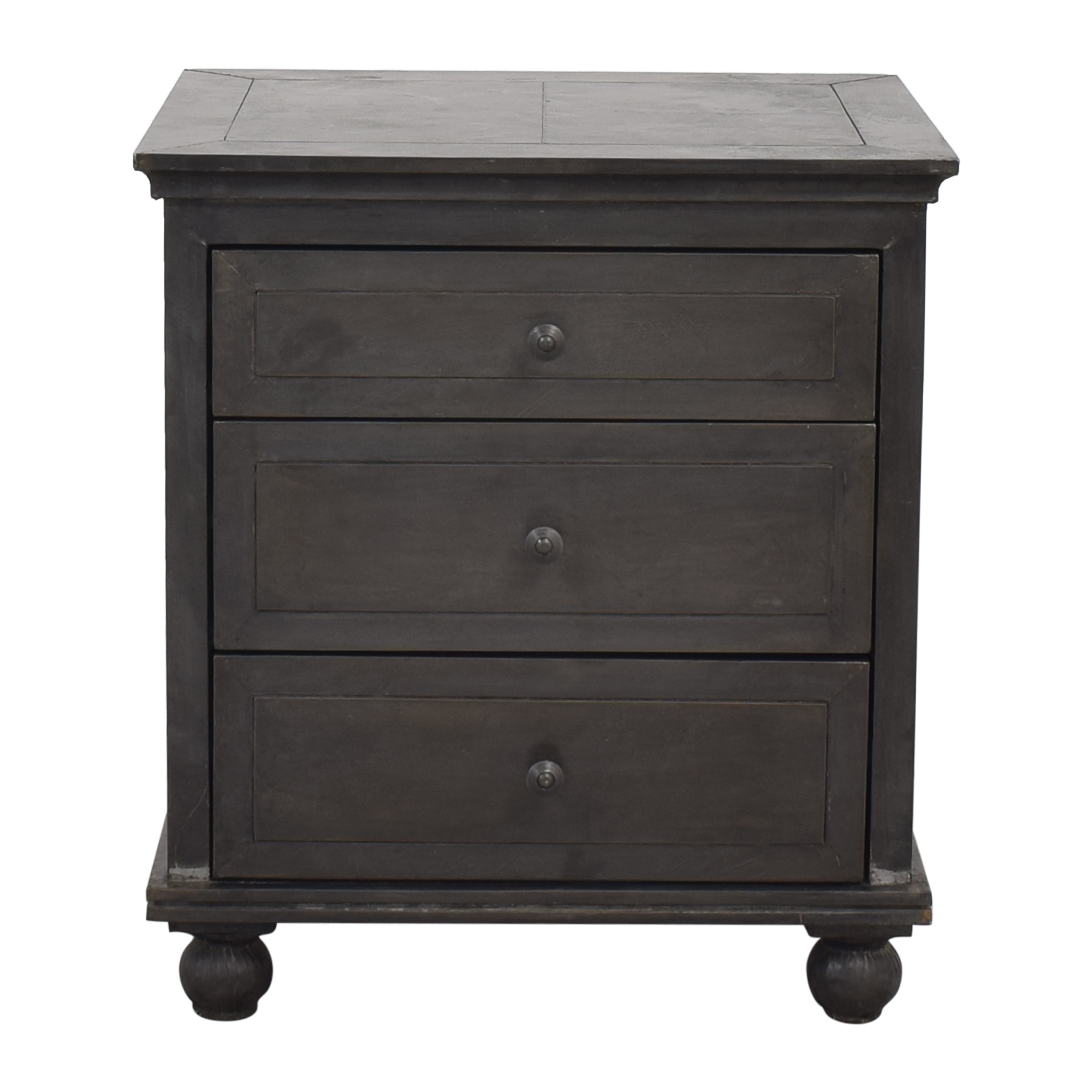 Restoration Hardware Restoration Hardware Annecy Metal-Wrapped Closed Nightstand ct
